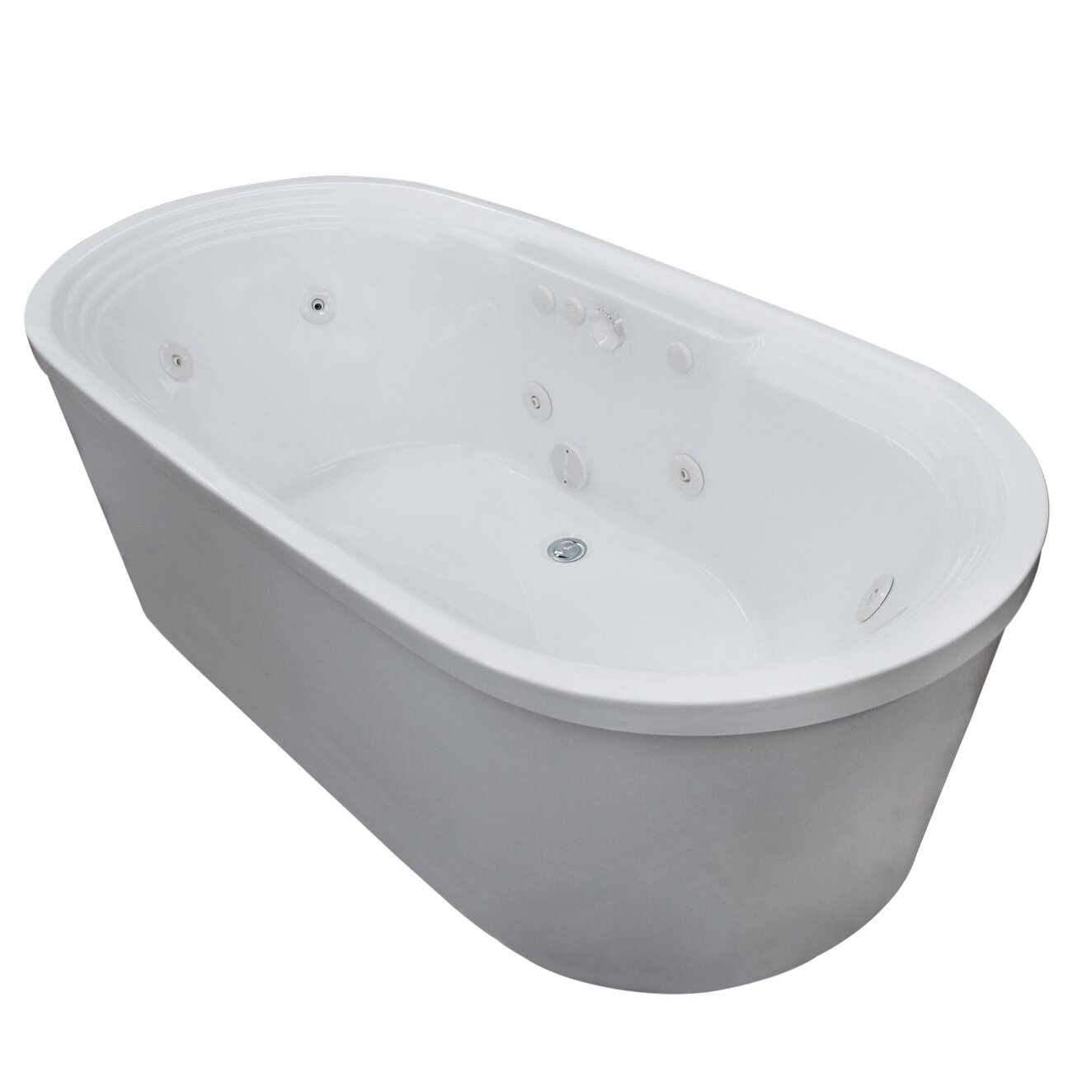 Spa Escapes Royal X Oval Freestanding Soaking Jetted