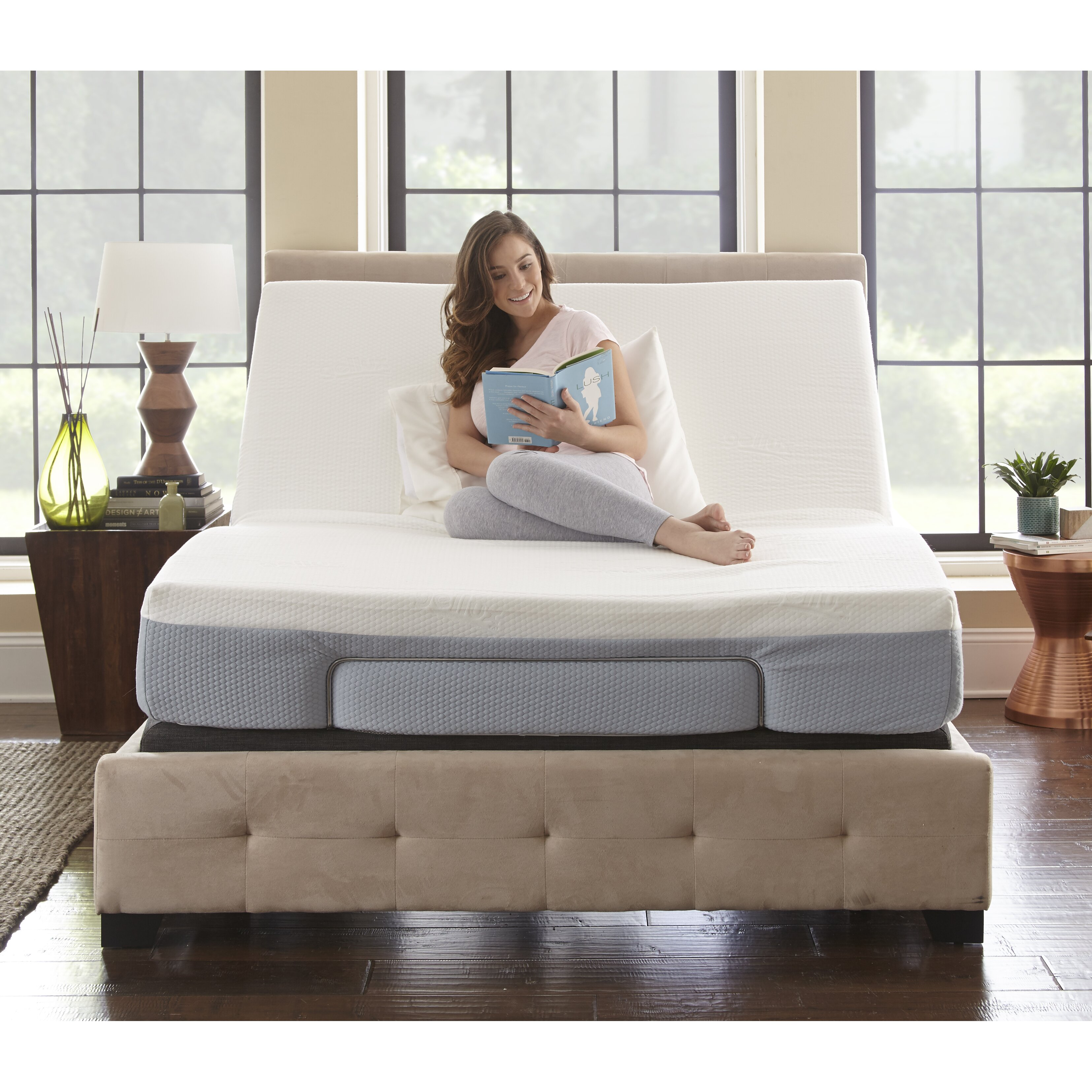 Eco Lux Power Adjustable Bed Base With Remote Control