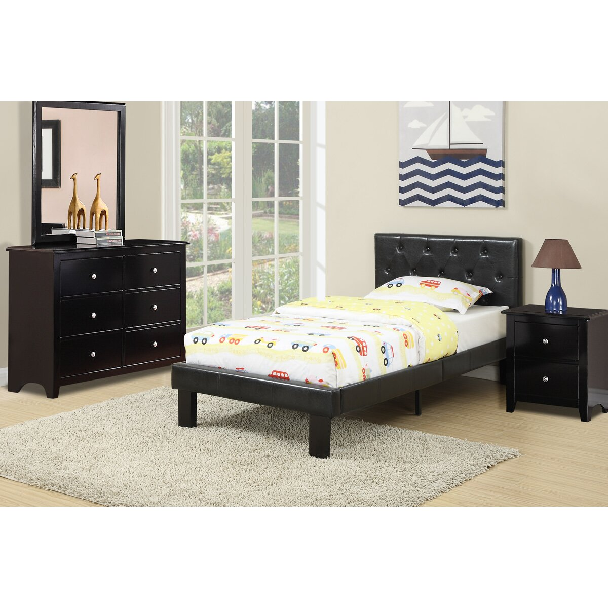Poundex Twin Platform Bed