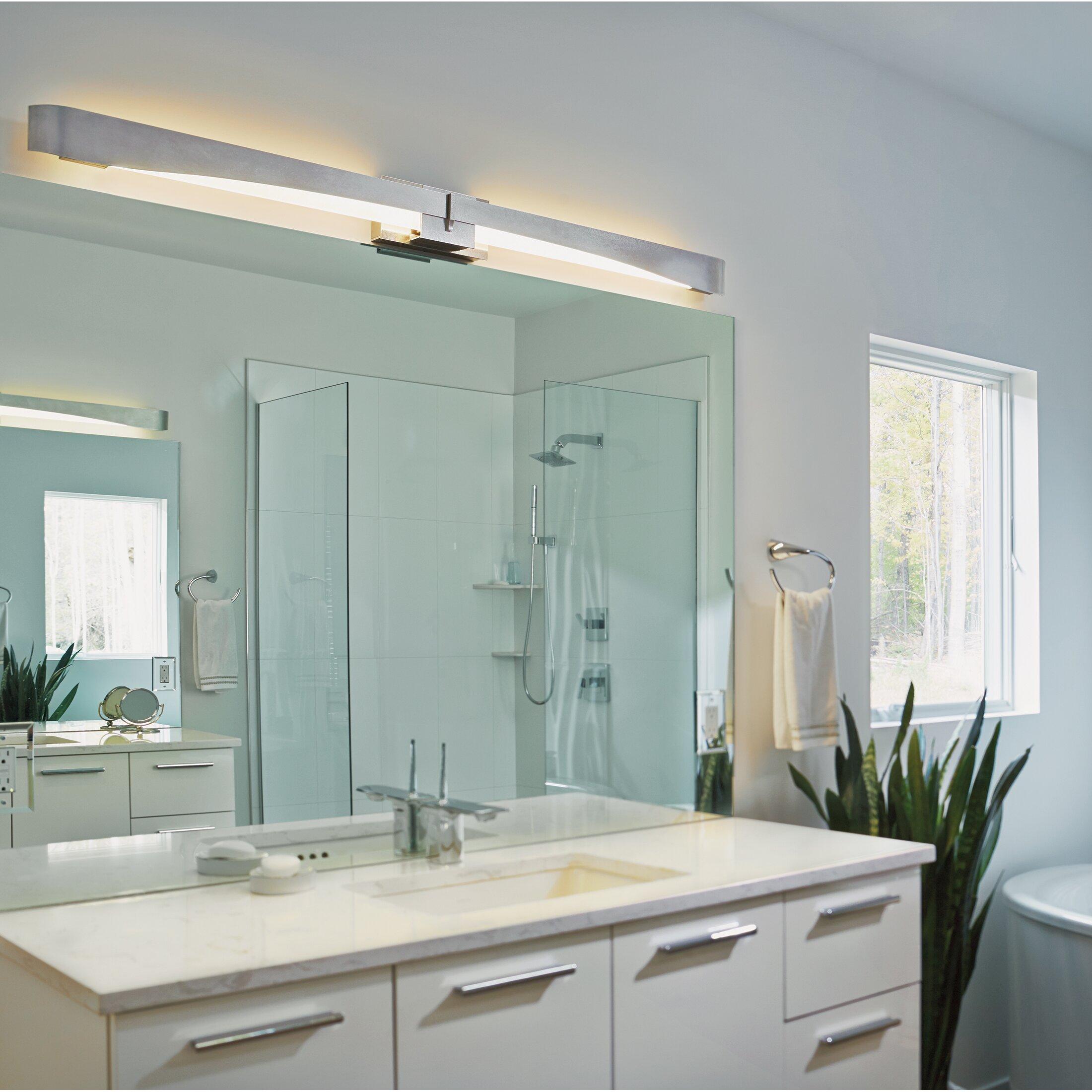 Hubbardton forge glide bath bar wall sconce wayfair for Hubbardton forge bathroom lighting