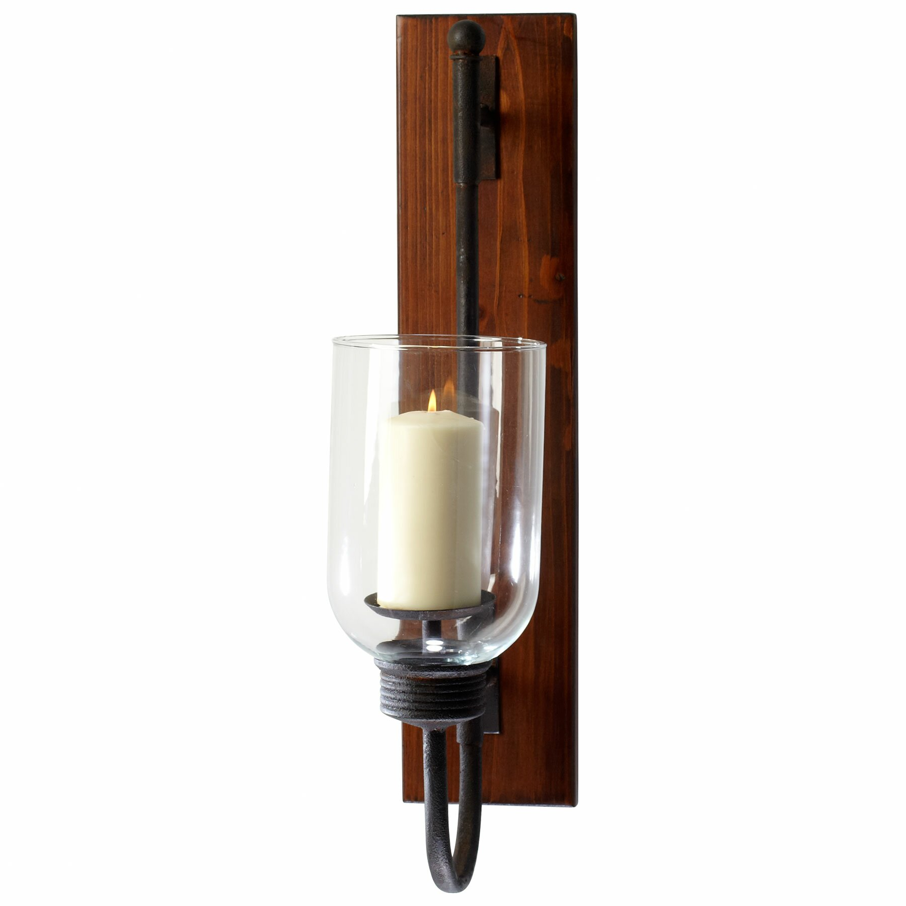 Cyan Design Iron Wood and Glass Sydney Wall Sconce ... on Wood And Metal Wall Sconces id=40098