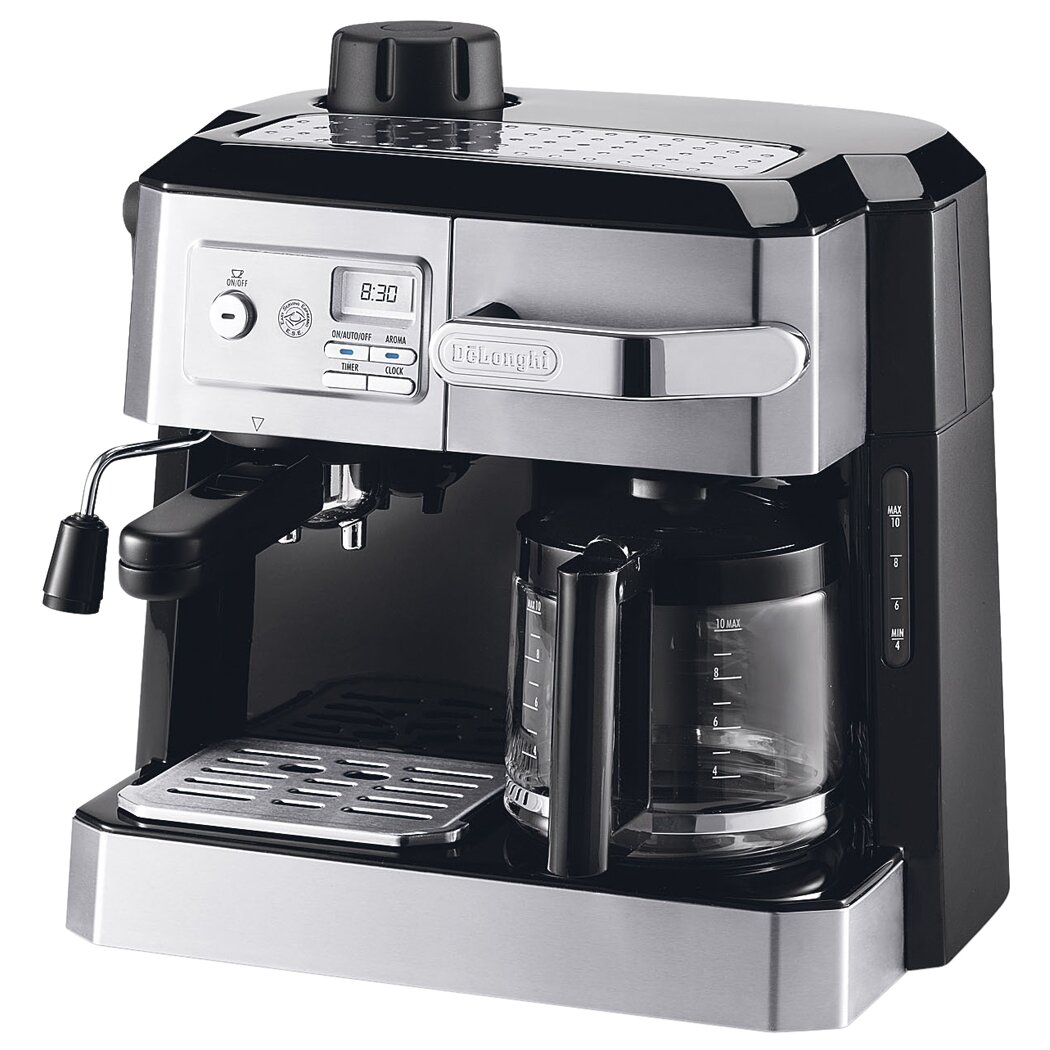 Coffee Maker Combo Review : DeLonghi Coffee/Espresso Maker & Reviews Wayfair