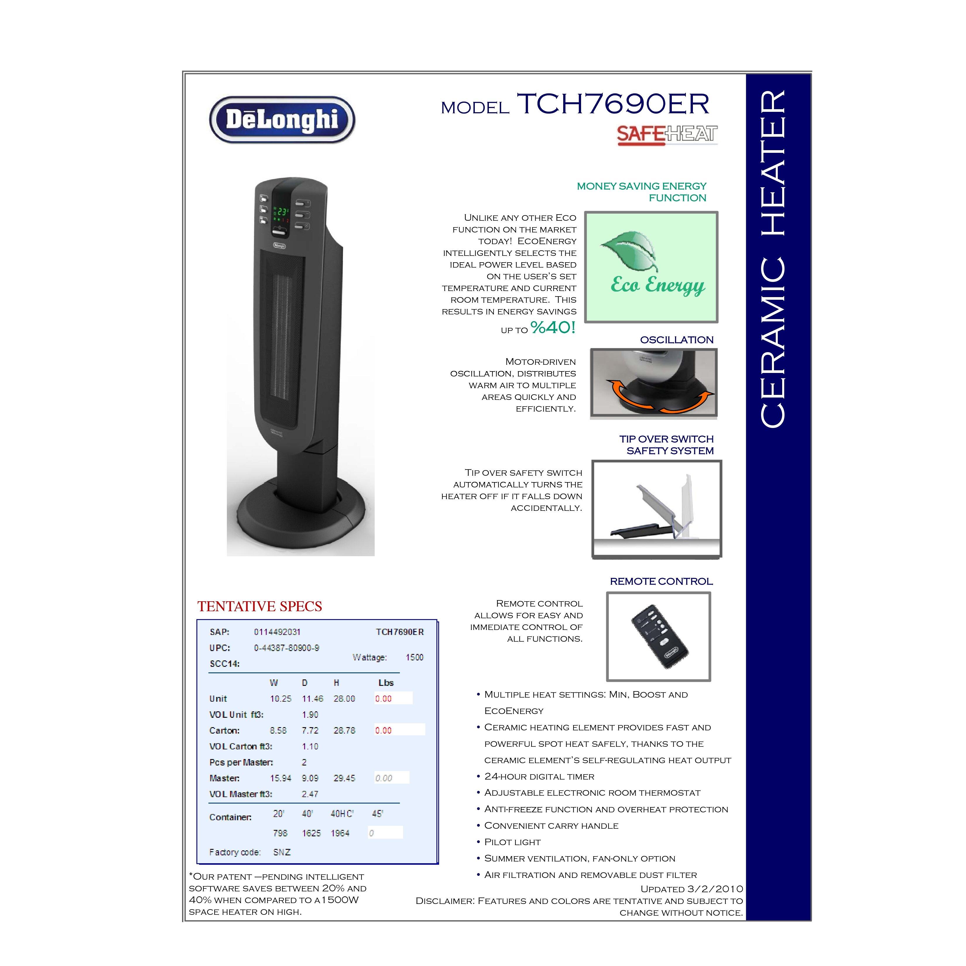 1,500 Watt Portable Electric Fan Tower Heater & Reviews | Wayfair