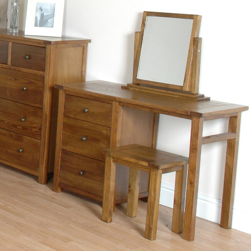 Home Haus Willis 3 Drawer Dressing Table Set Reviews Wayfair Uk