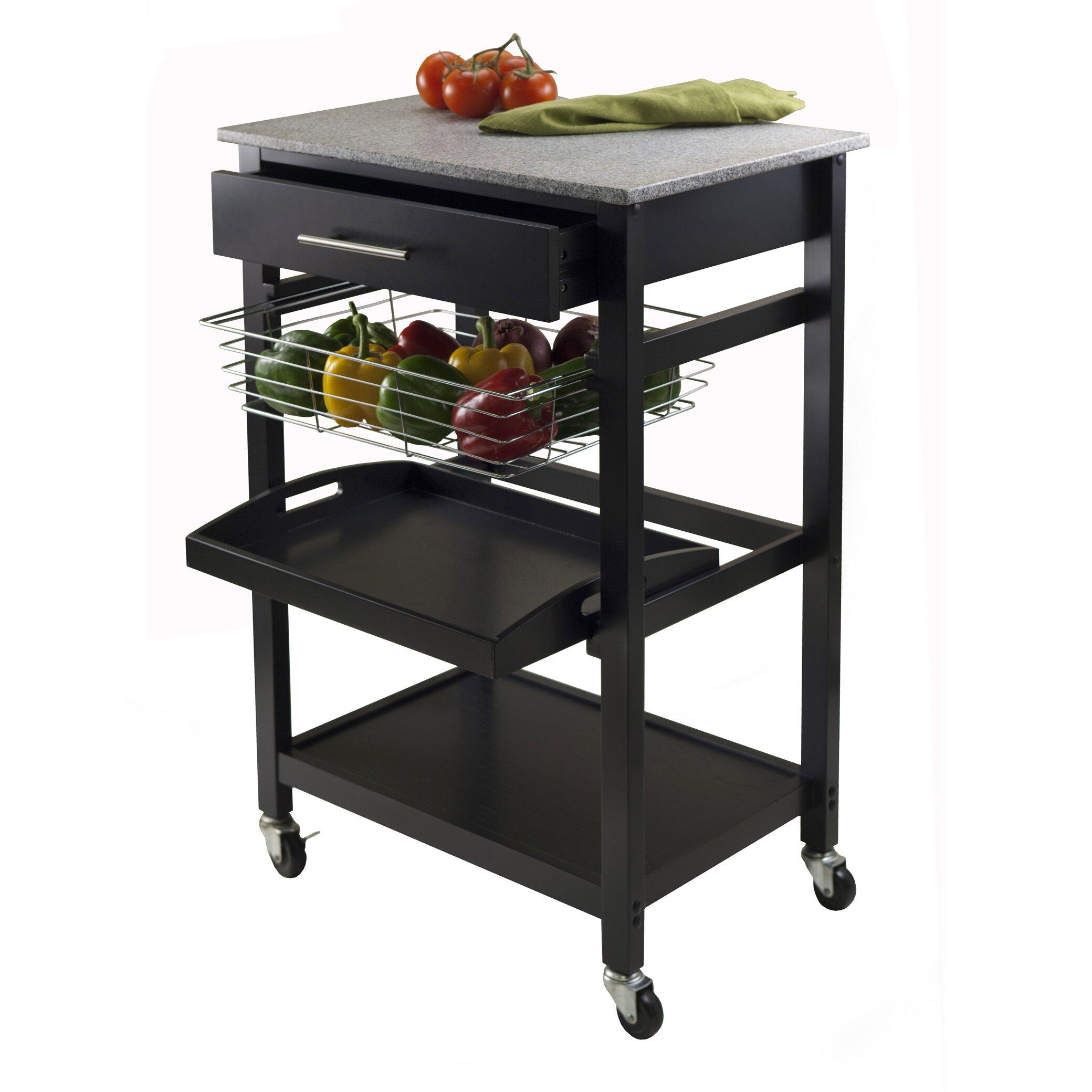 luxury home julia kitchen cart wayfair