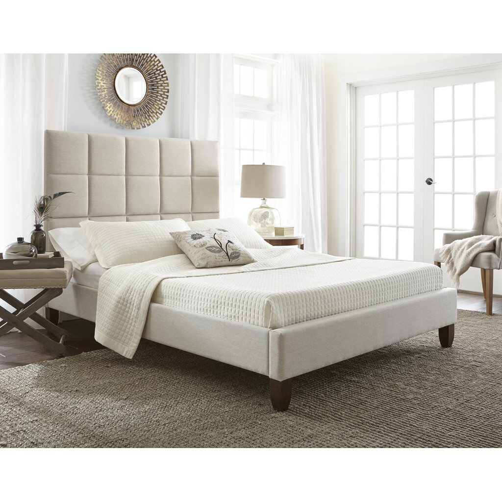 Luxury home abigail upholstered platform bed wayfair - Luxury platform beds ...