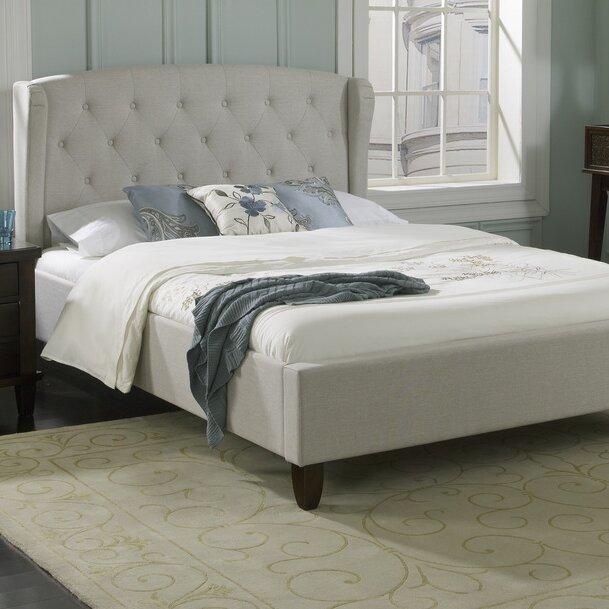 Luxury home brooklyn upholstered platform bed wayfair - Luxury platform beds ...