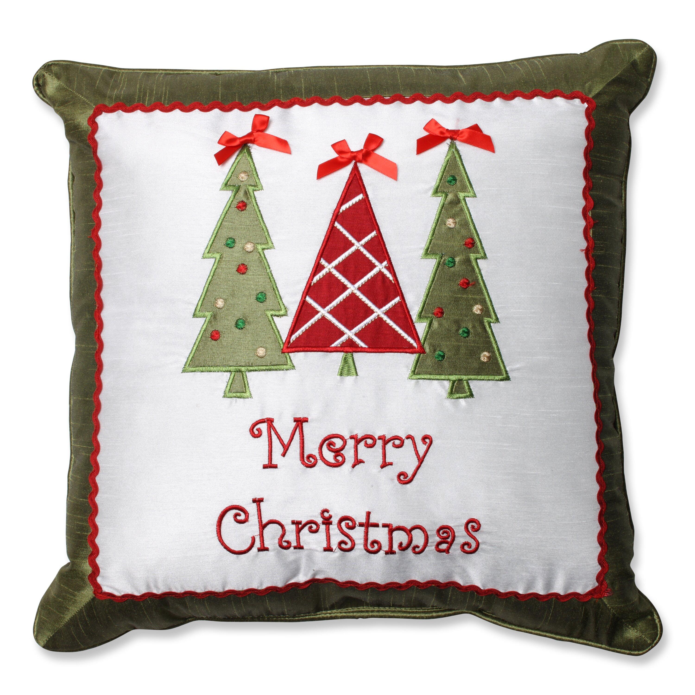 Christmas Tree Merry Christmas: Pillow Perfect Merry Christmas Trees Throw Pillow