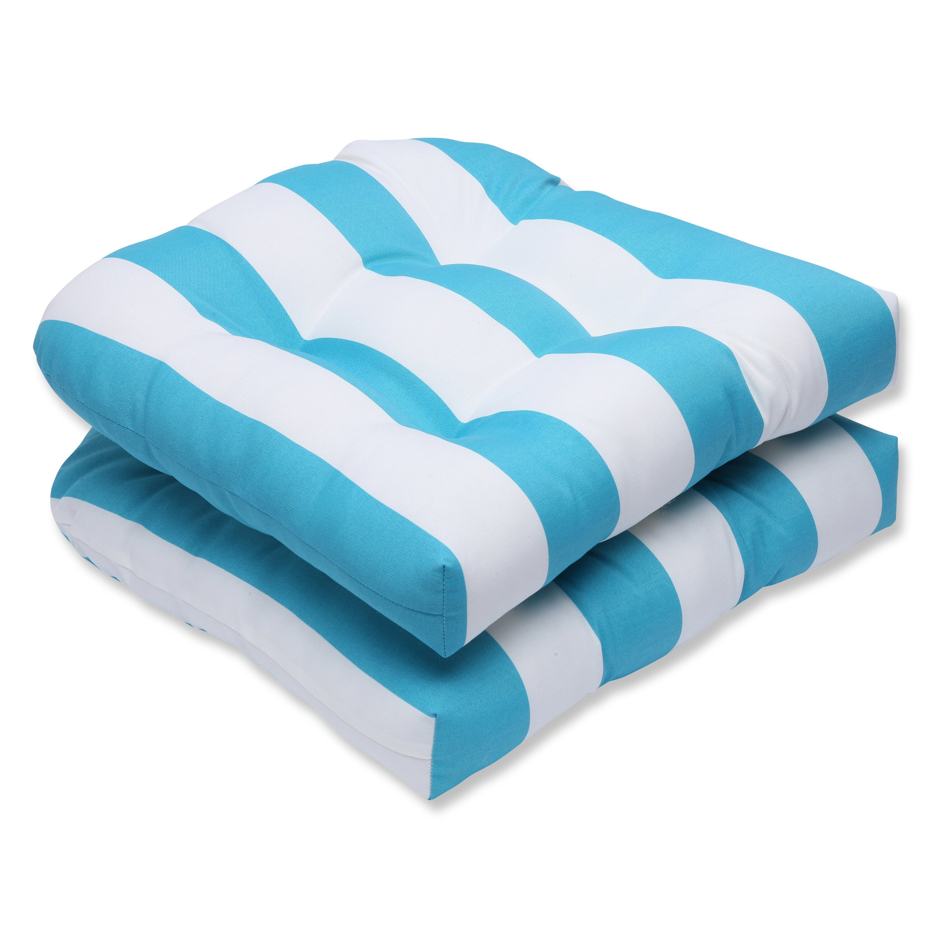Pillow perfect cabana stripe outdoor dining chair cushion for Chair pillow