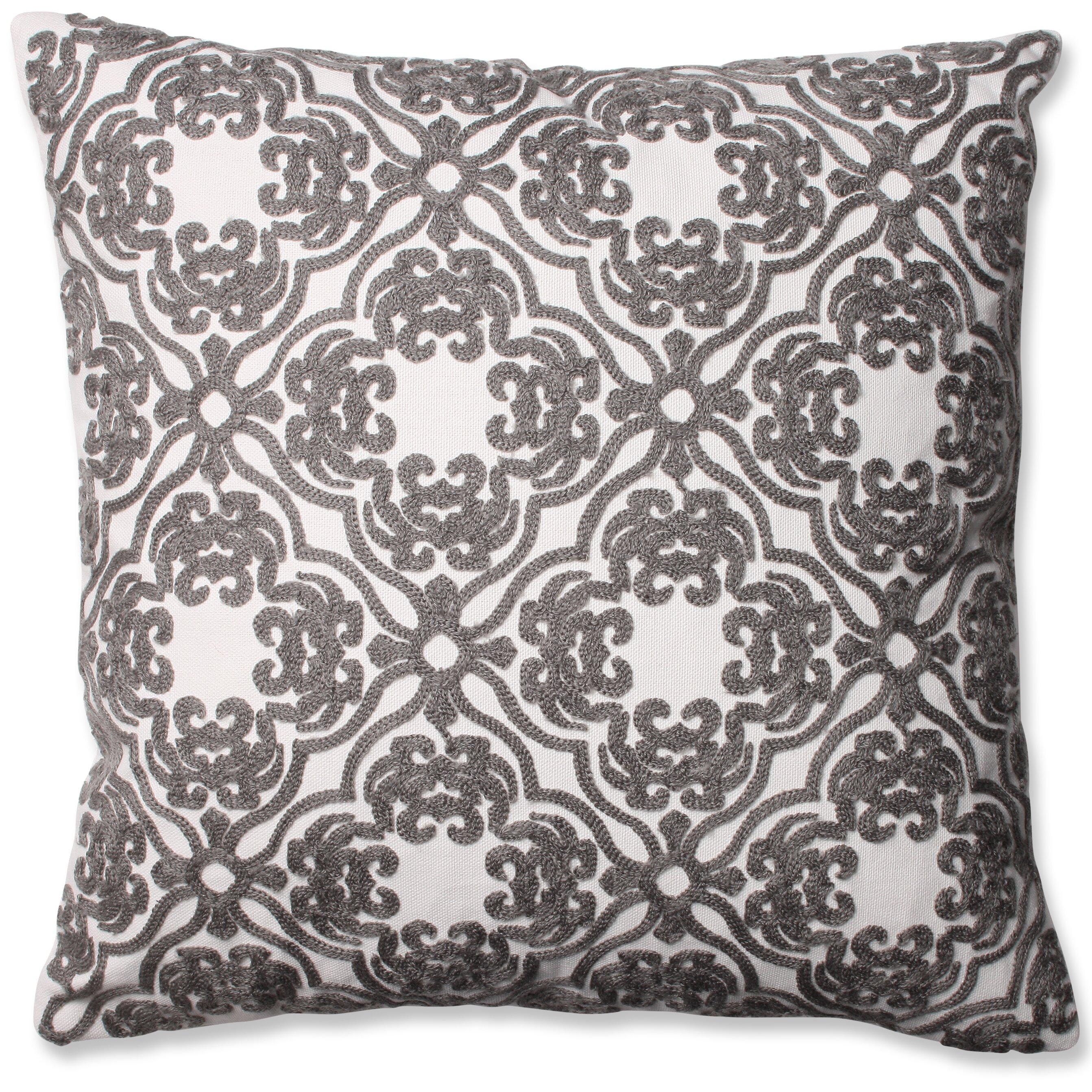 Throw Pillows Damask : Pillow Perfect Damask Cotton Throw Pillow & Reviews Wayfair
