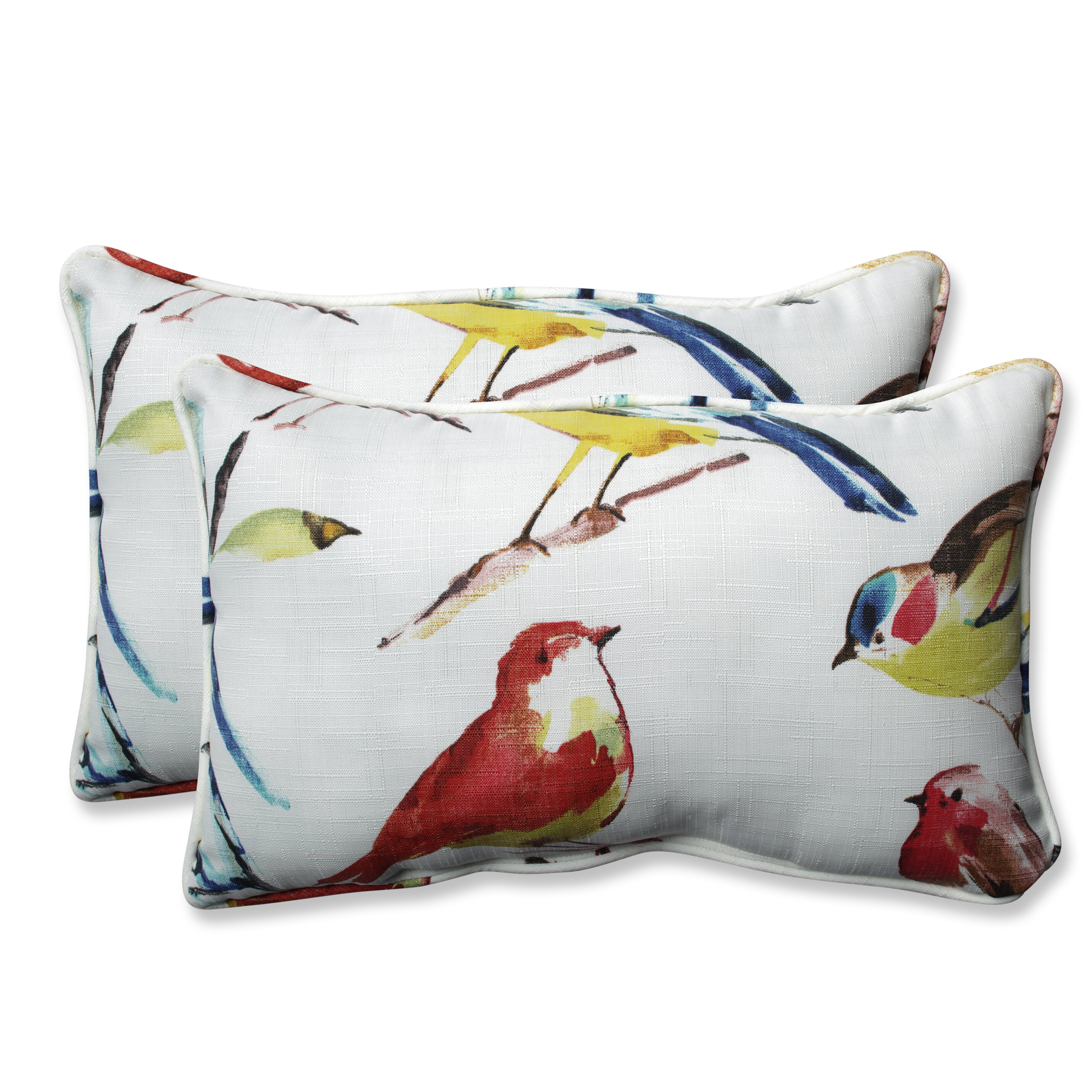 Outdoor Decorative Pillow Sets : Pillow Perfect Pillow Perfect Outdoor / Indoor Bird Watchers Summer Throw Pillow (Set of 2 ...