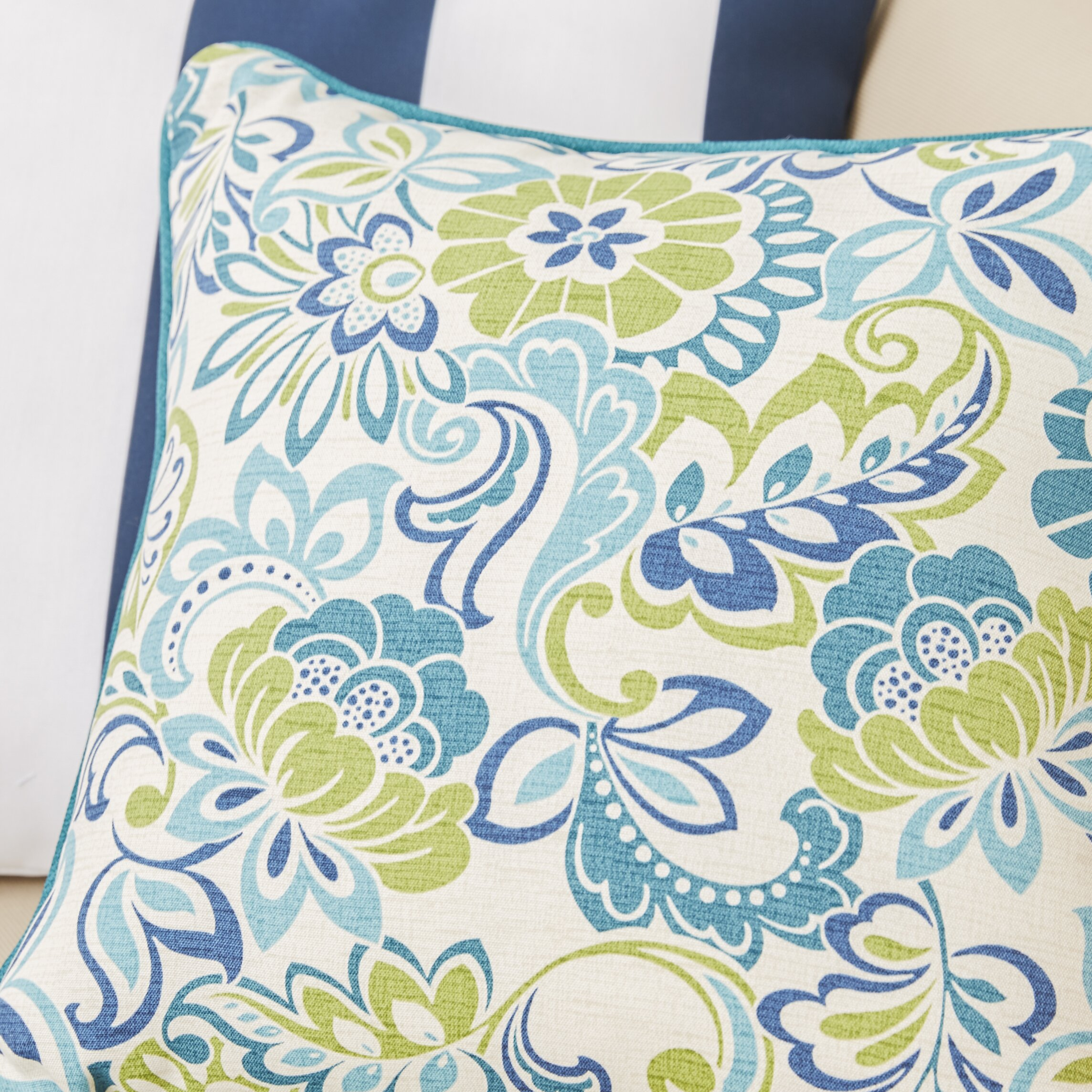 Pillow Perfect Zoe Mallard Indoor/Outdoor Throw Pillow & Reviews Wayfair