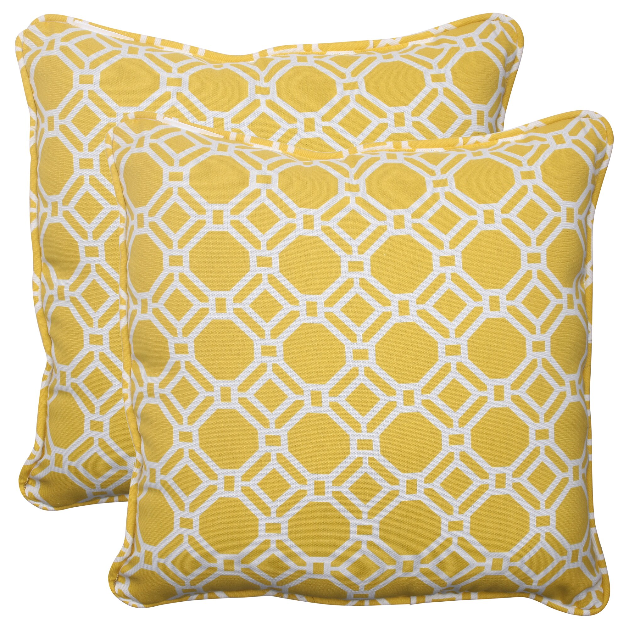 Indoor Outdoor Decorative Pillows : Pillow Perfect Rossmere Corded Indoor/Outdoor Throw Pillow & Reviews Wayfair