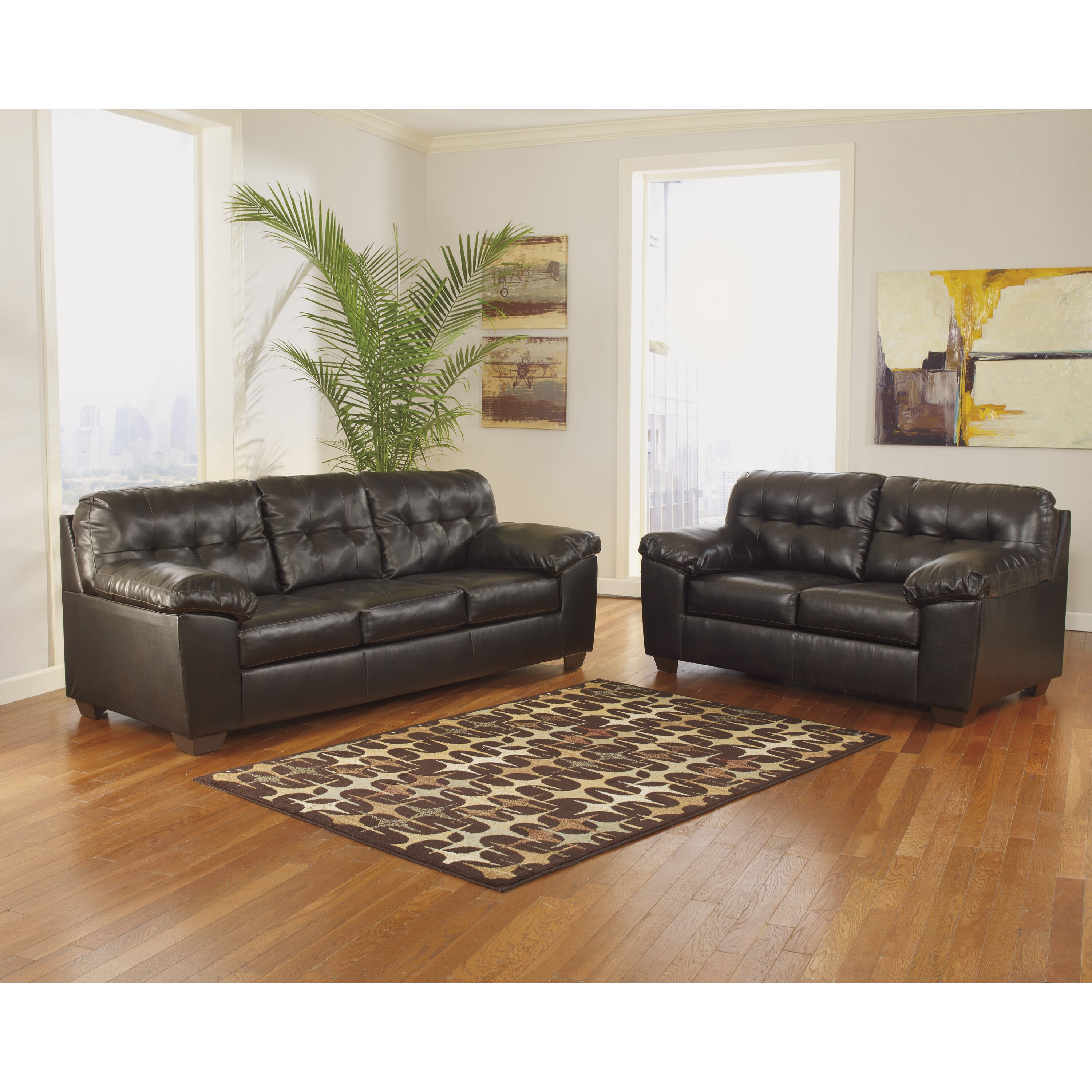 Flash furniture alliston 2 piece signature design by for Living room ideas ashley furniture
