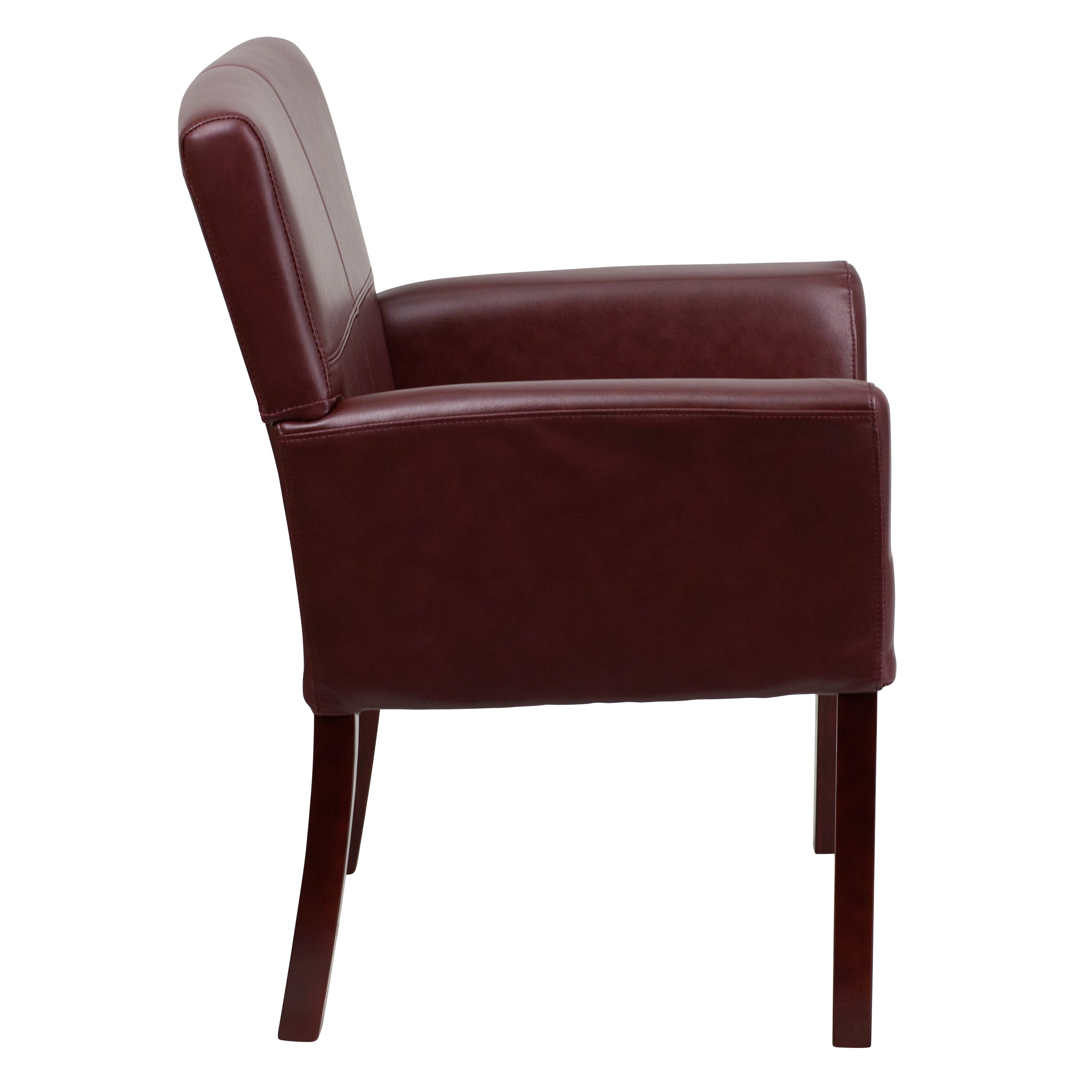 Flash Furniture Personalized Leather Executive Reception Chair Wayfair