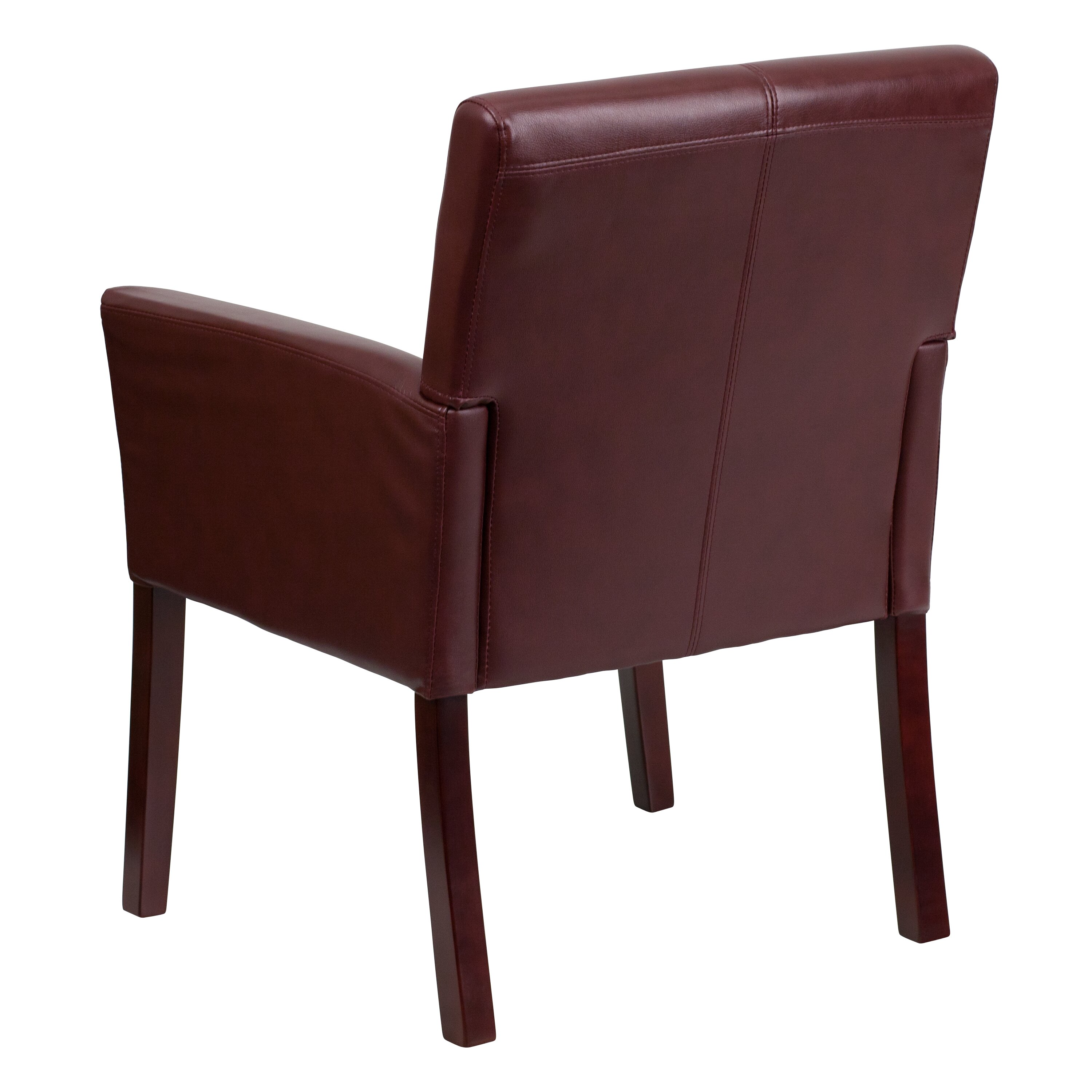 Flash Furniture Personalized Leather Executive Reception Chair Wayfair Supply