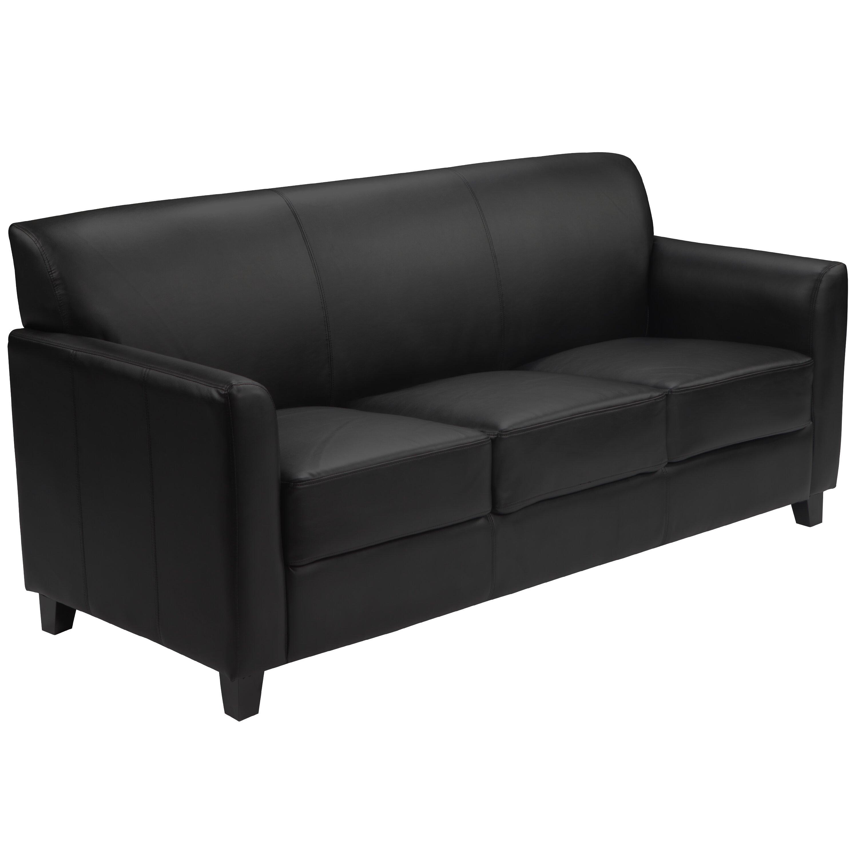 Flash Furniture Hercules Diplomat Series Leather Sofa Reviews Wayfair Supply