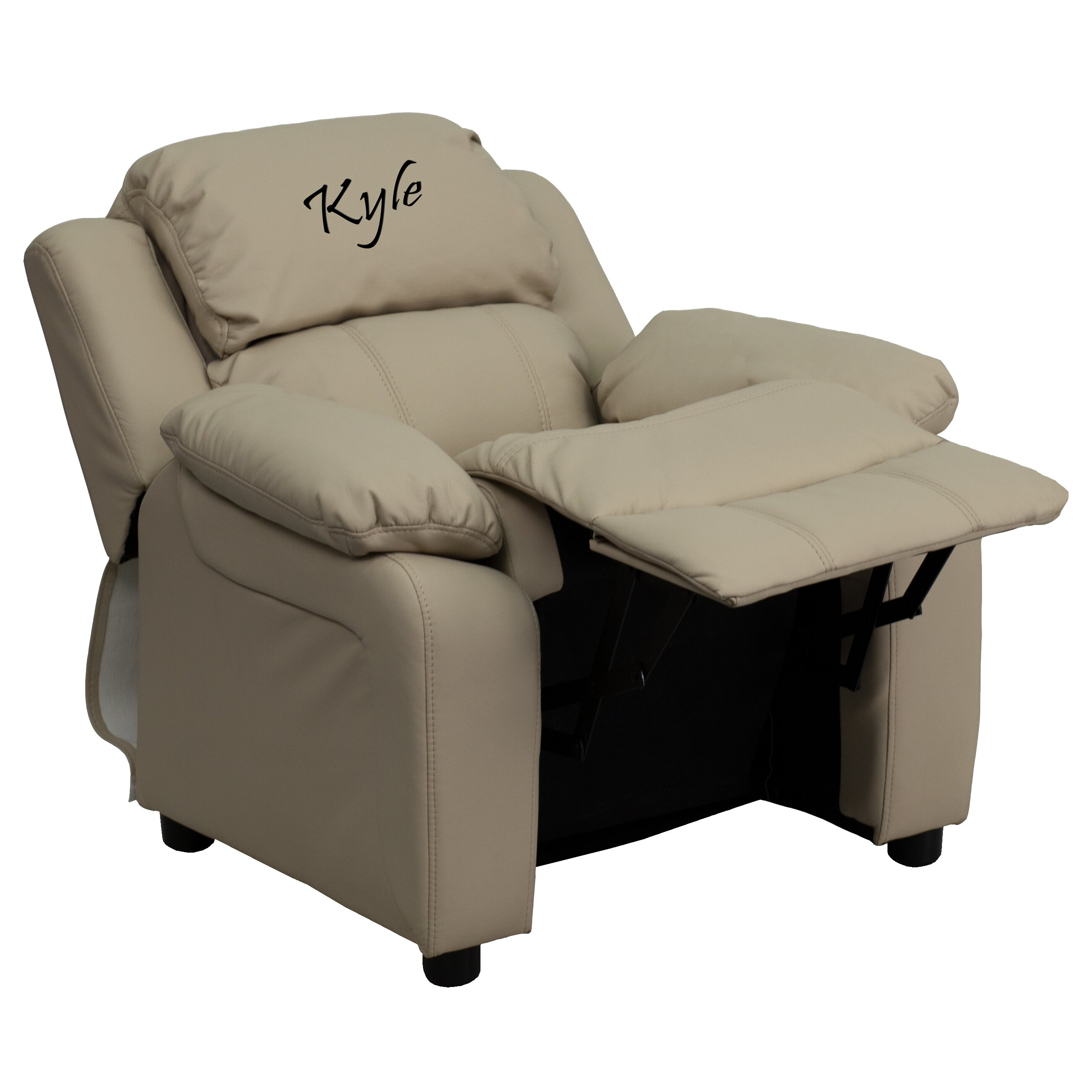 Flash furniture deluxe contemporary personalized kids for Monogrammed kids chair