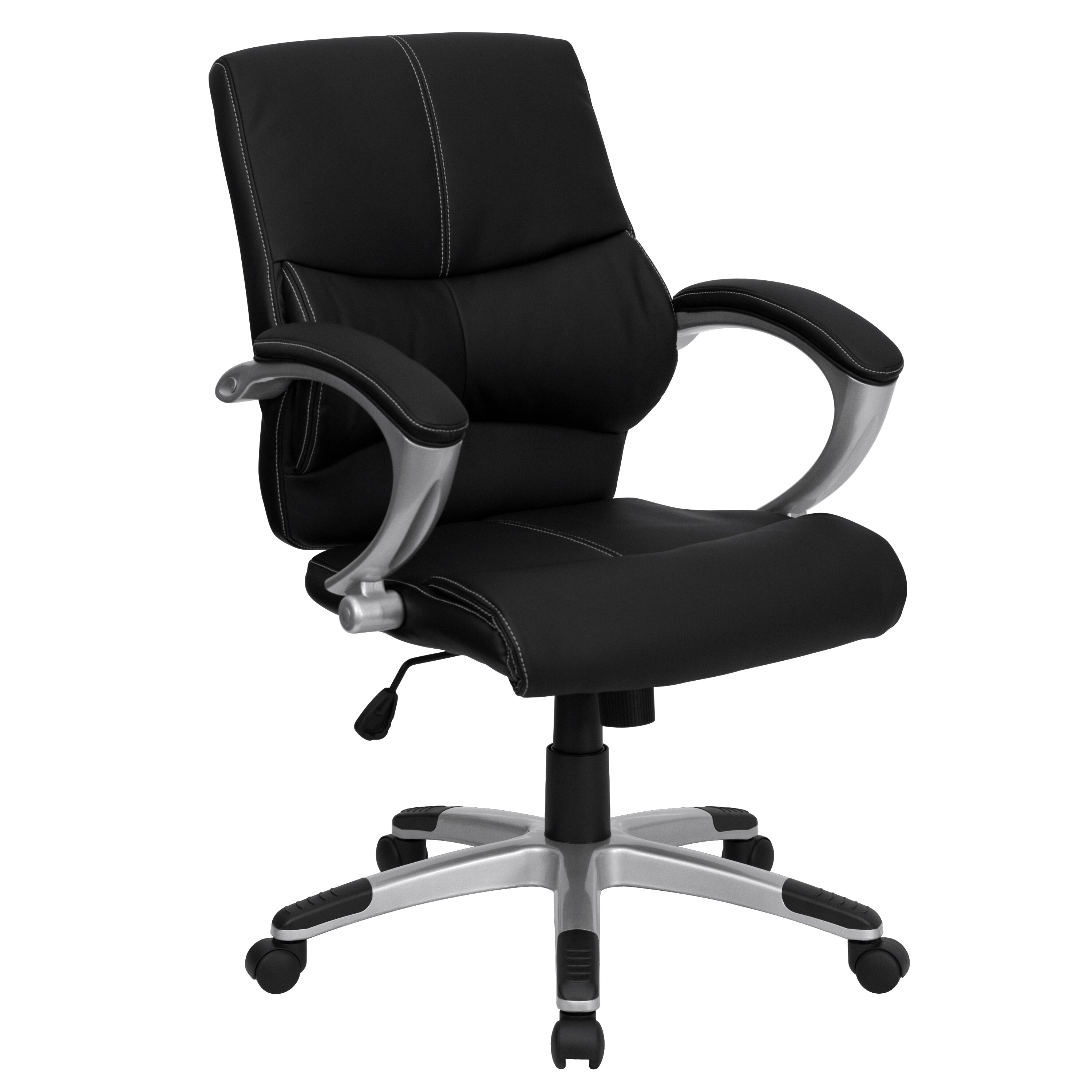 Flash Furniture Leather Office Executive Chair With Stitching Reviews Wayfair