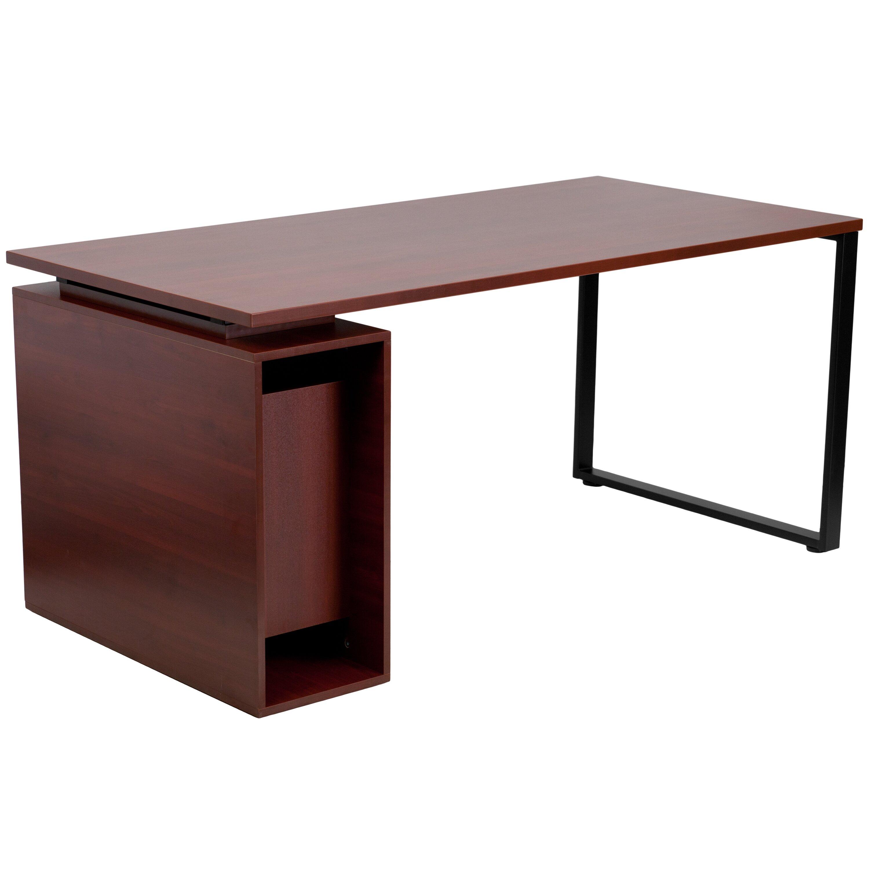 Flash Furniture Computer Desk with Open Storage Pedestal & Reviews