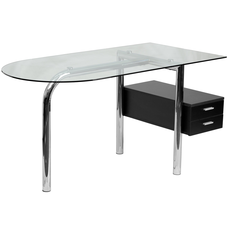 Flash Furniture Writing Desk With 2 Drawer Pedestal Reviews Wayfair