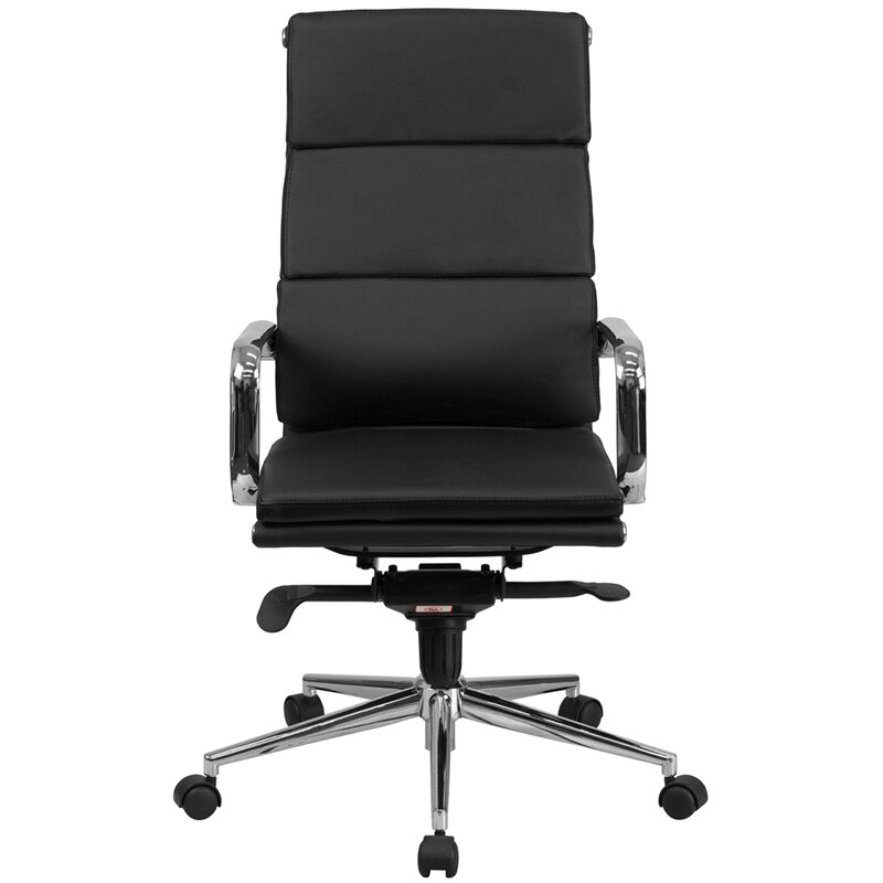 Flash furniture high back leather executive chair for High back leather chairs