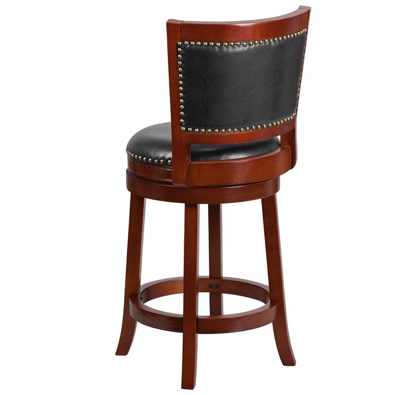 Flash Furniture 26 Swivel Bar Stool With Cushion Wayfair
