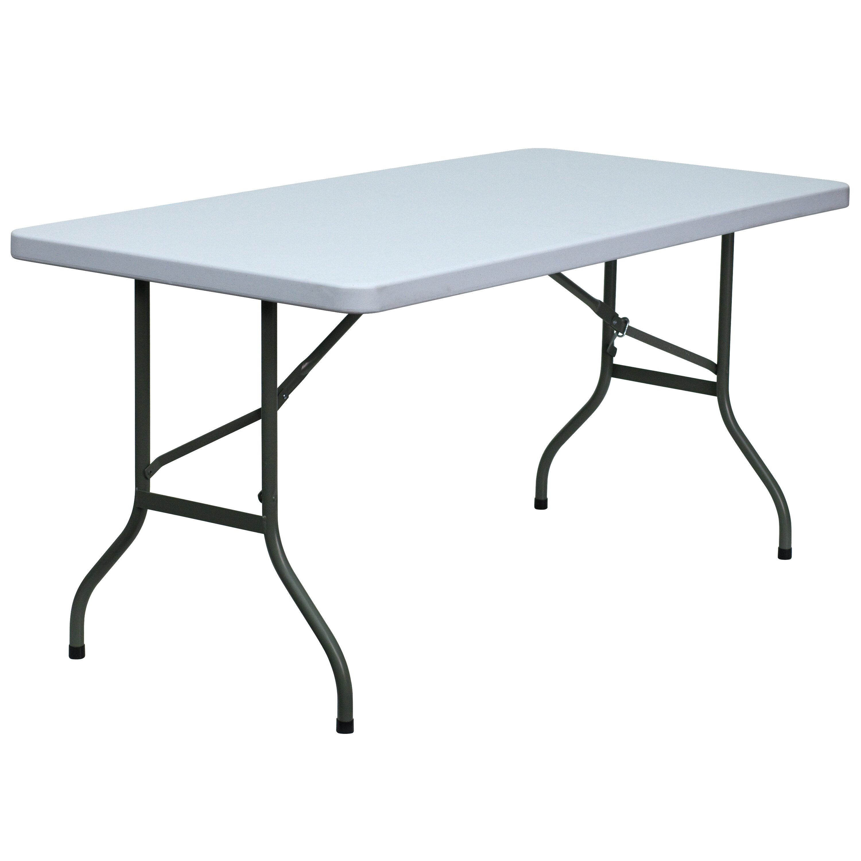 Flash Furniture 60 Rectangular Folding Table Reviews Wayfair Supply