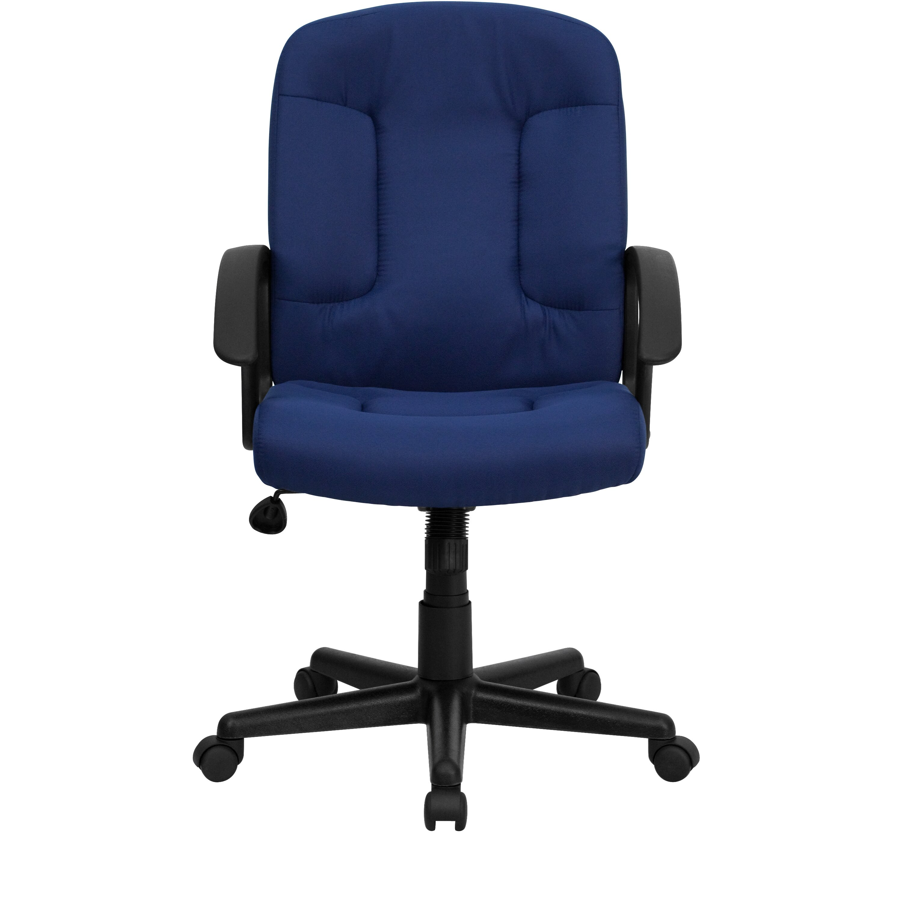 Flash Furniture Mid Back Fabric Office Chair With Nylon Arms Reviews Wayfair