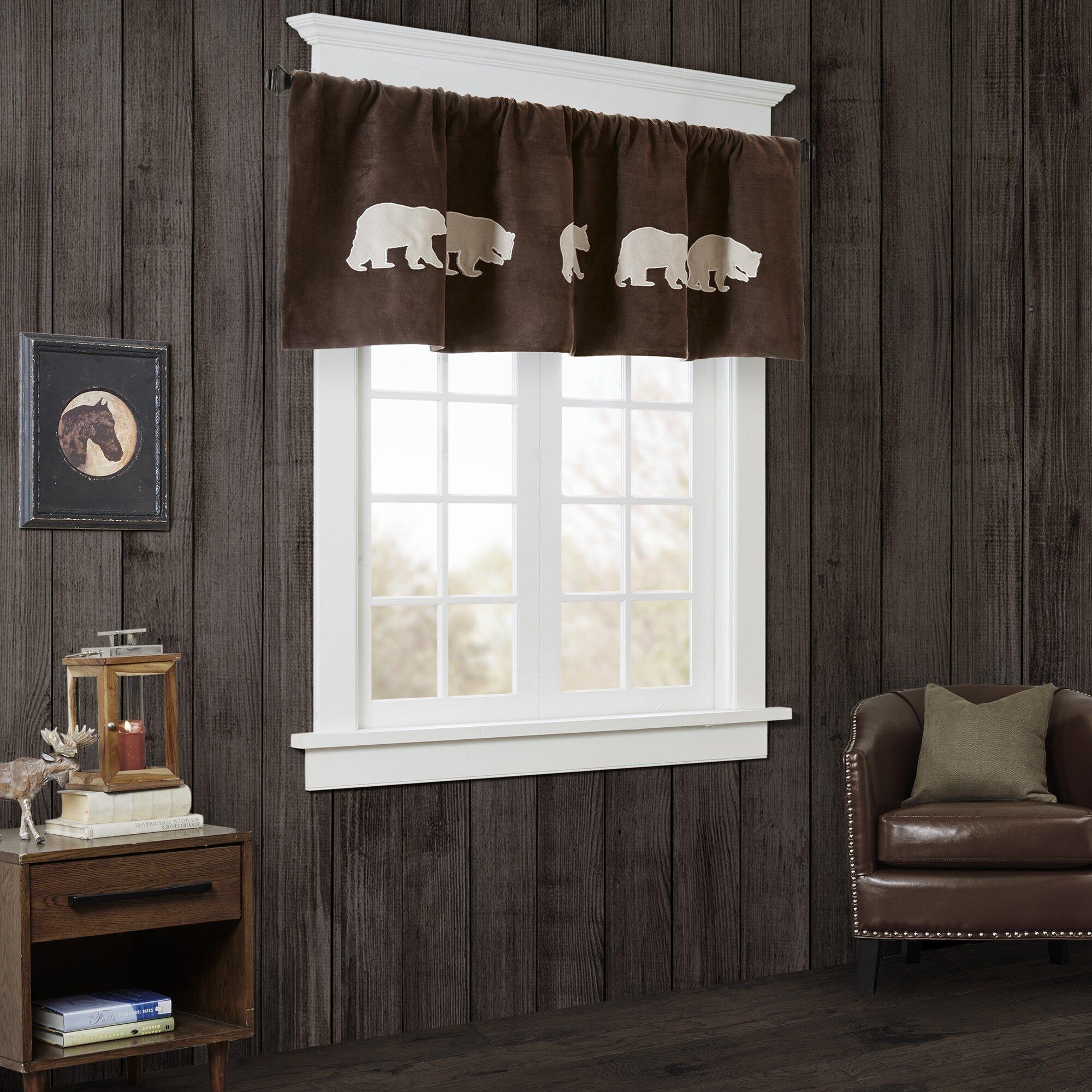 Woolrich Bear Faux Suede Curtain Valance Wayfair
