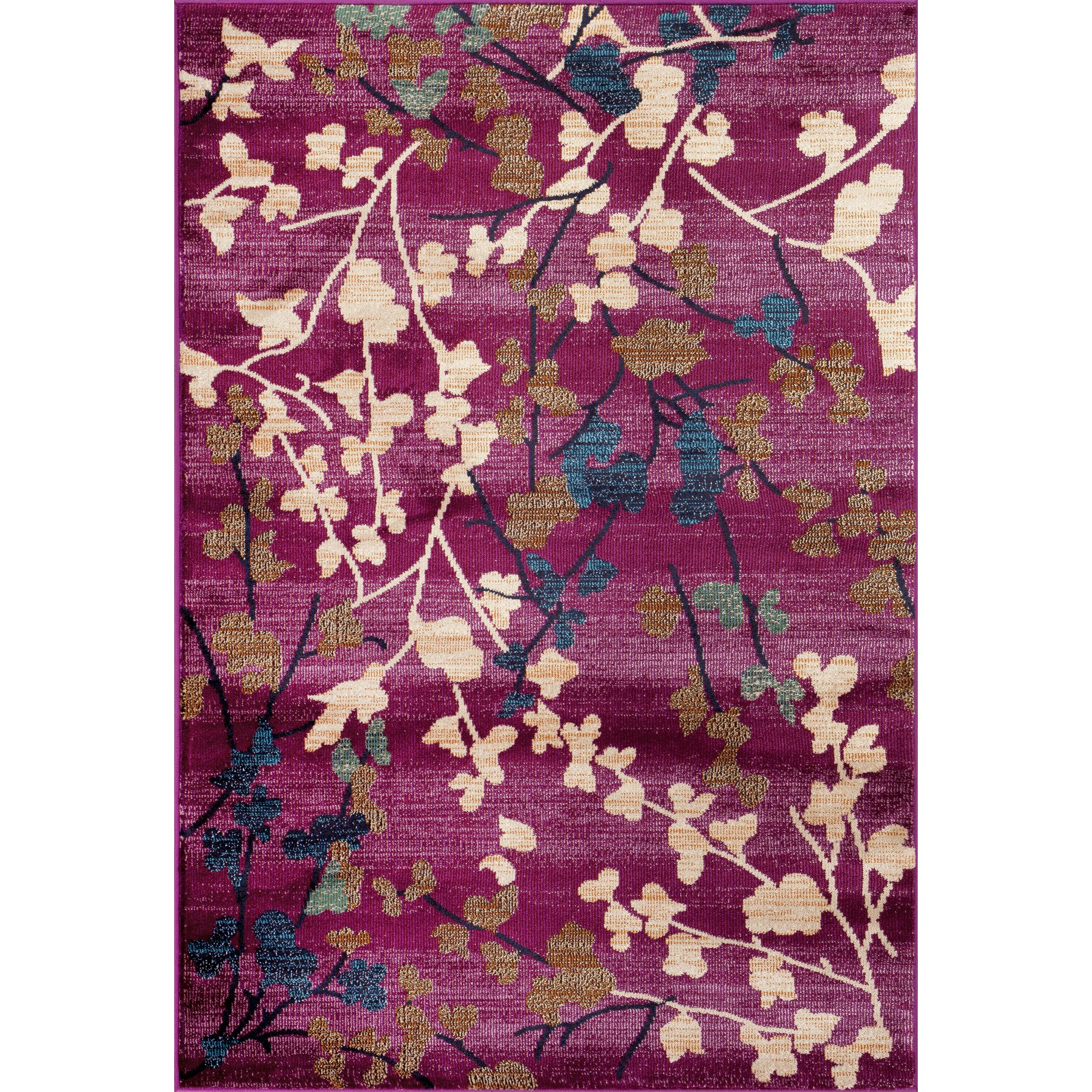 Purple Rug: World Rug Gallery Loft Purple Area Rug & Reviews