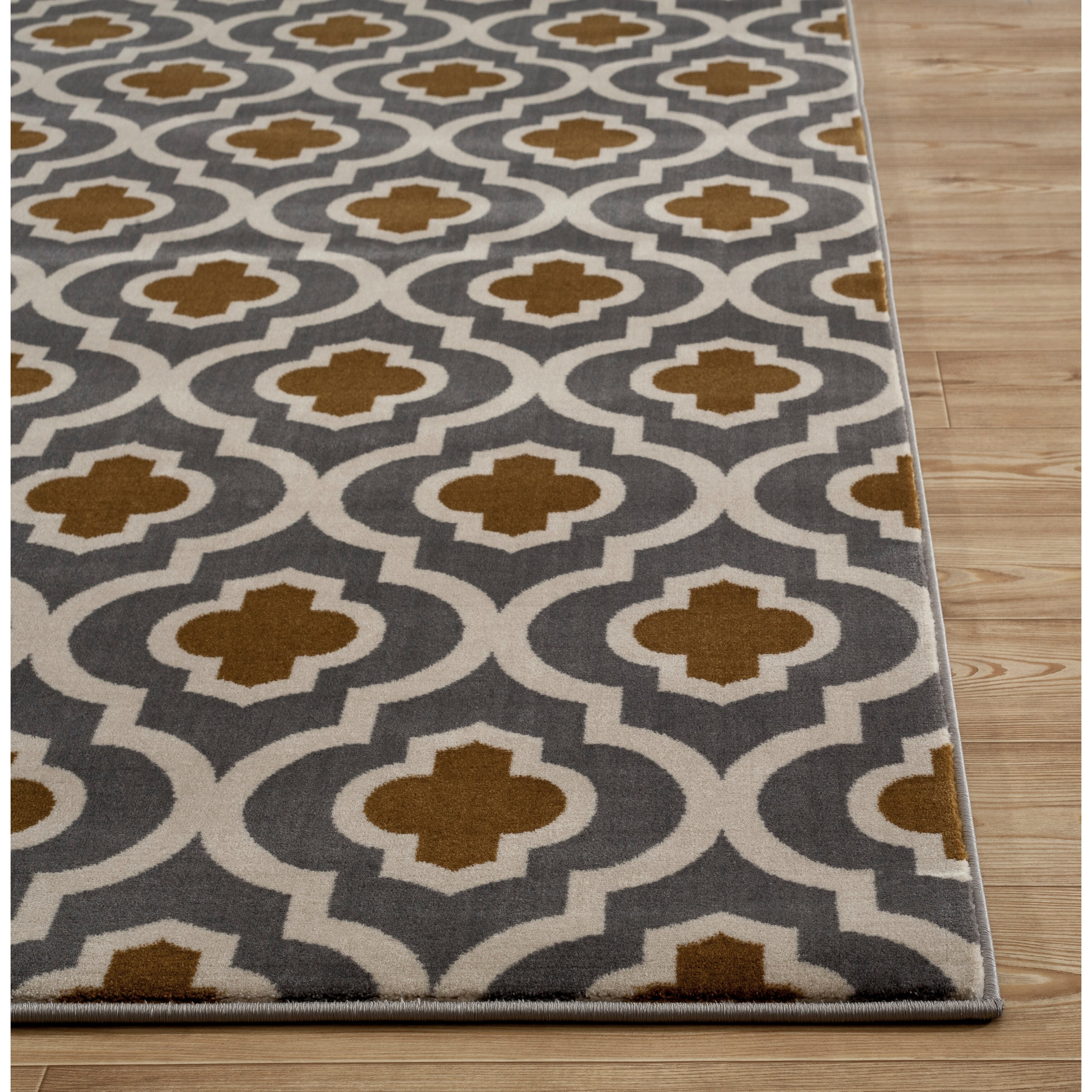 World rug gallery elite soft dark gray yellow area rug for Soft area rugs