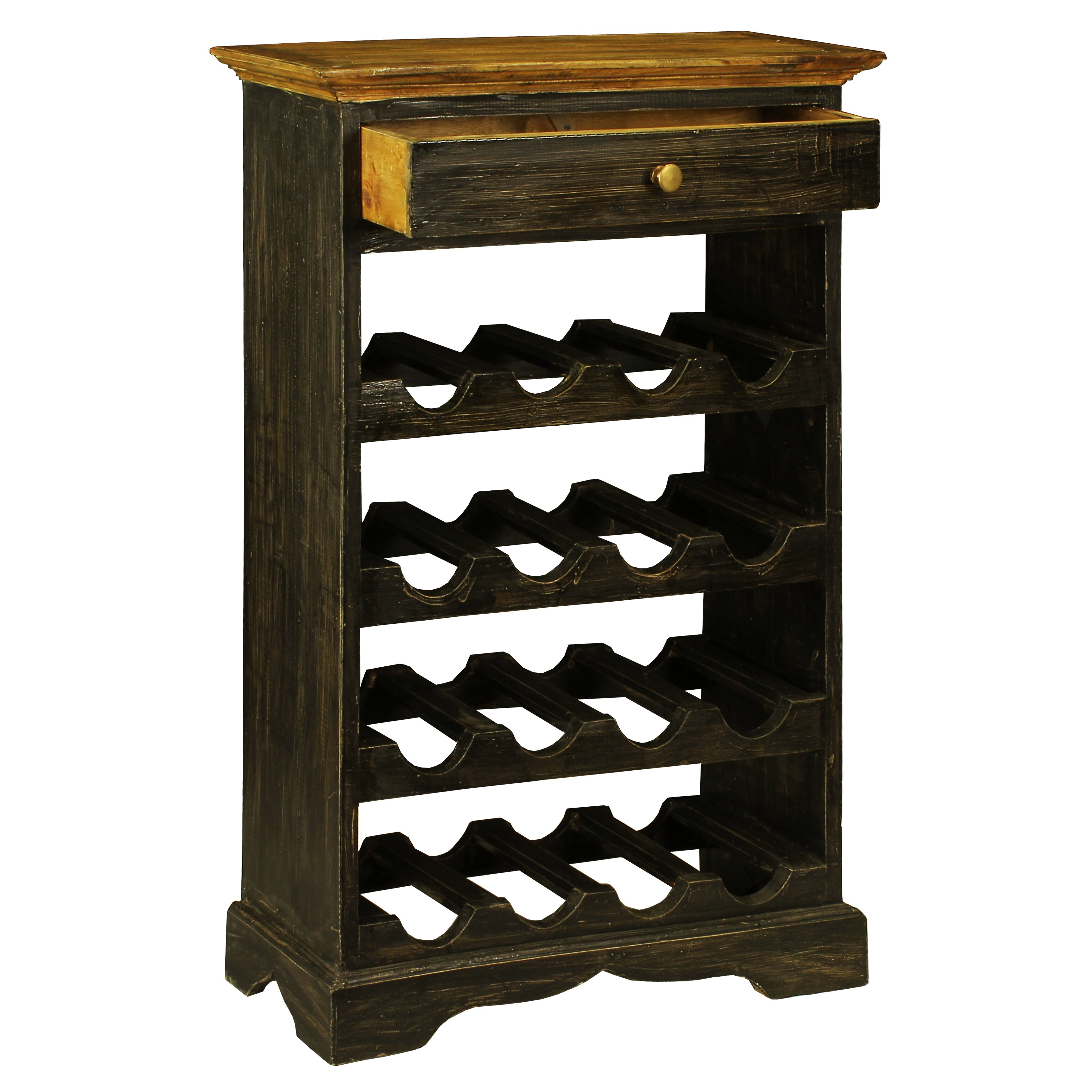 Antique revival auburn 16 bottle floor wine rack reviews for Floor wine rack