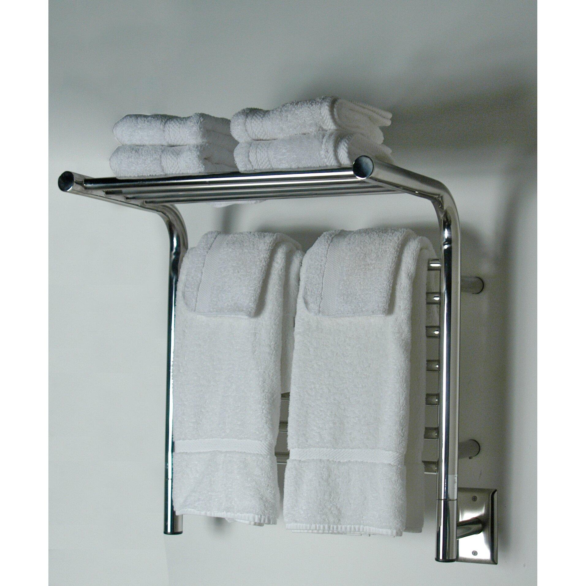 Wall Mounted Electric Towel Warmer ~ Amba jeeves wall mount electric m shelf straight towel