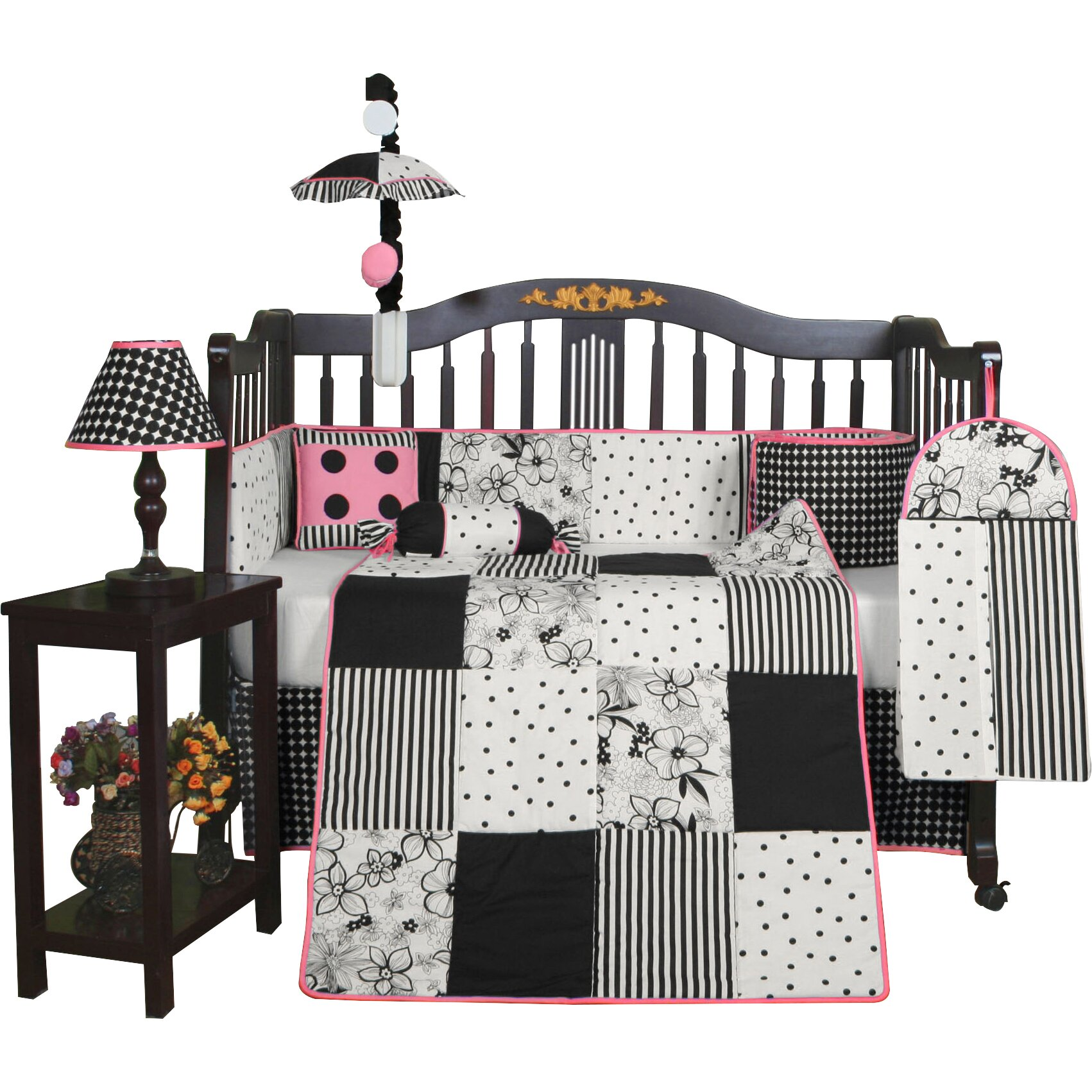 Geenny boutique flower and dot 13 piece crib bedding set reviews wayfair - Geenny crib bedding sets ...