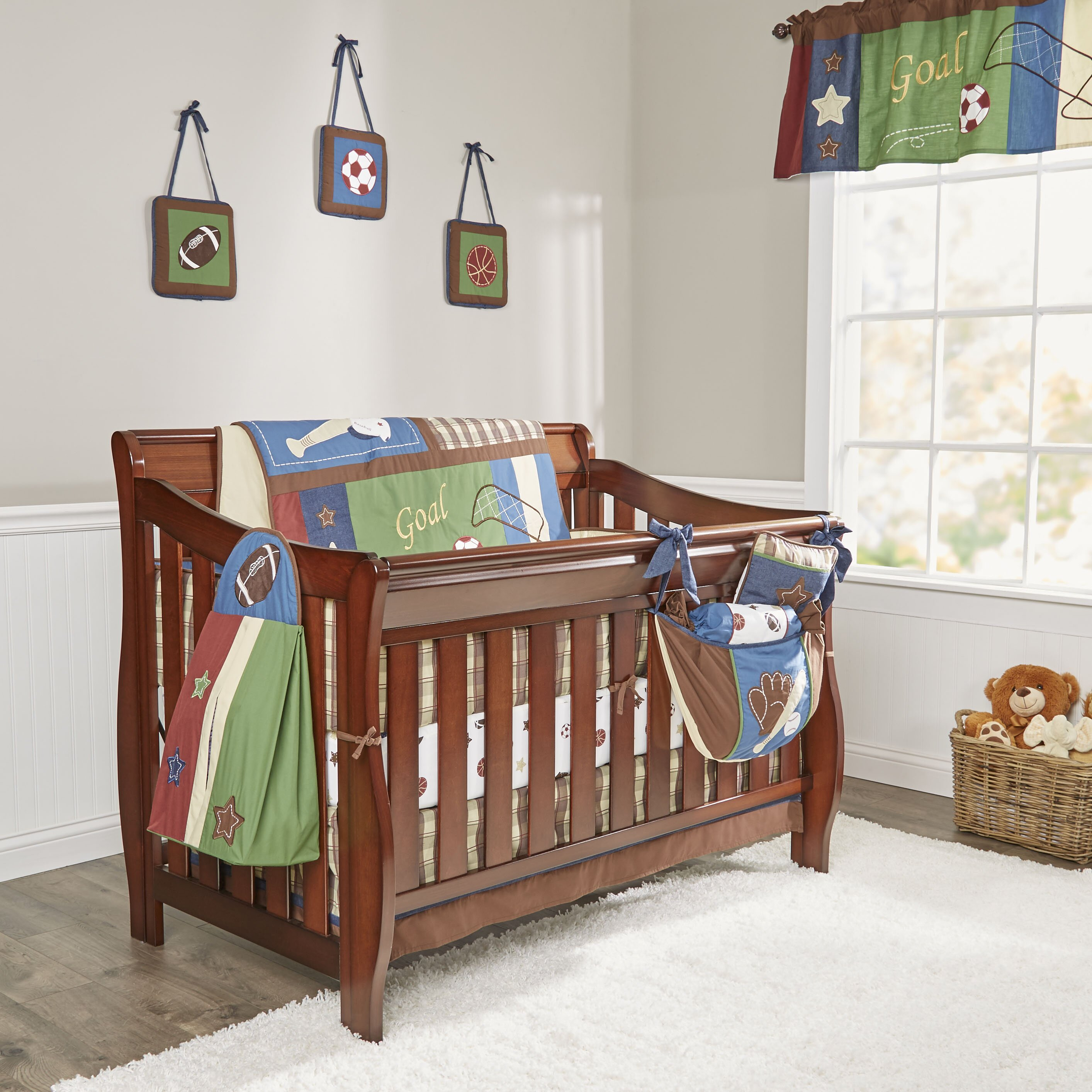 Geenny boutique classic sport 13 piece crib bedding set reviews wayfair - Geenny crib bedding sets ...