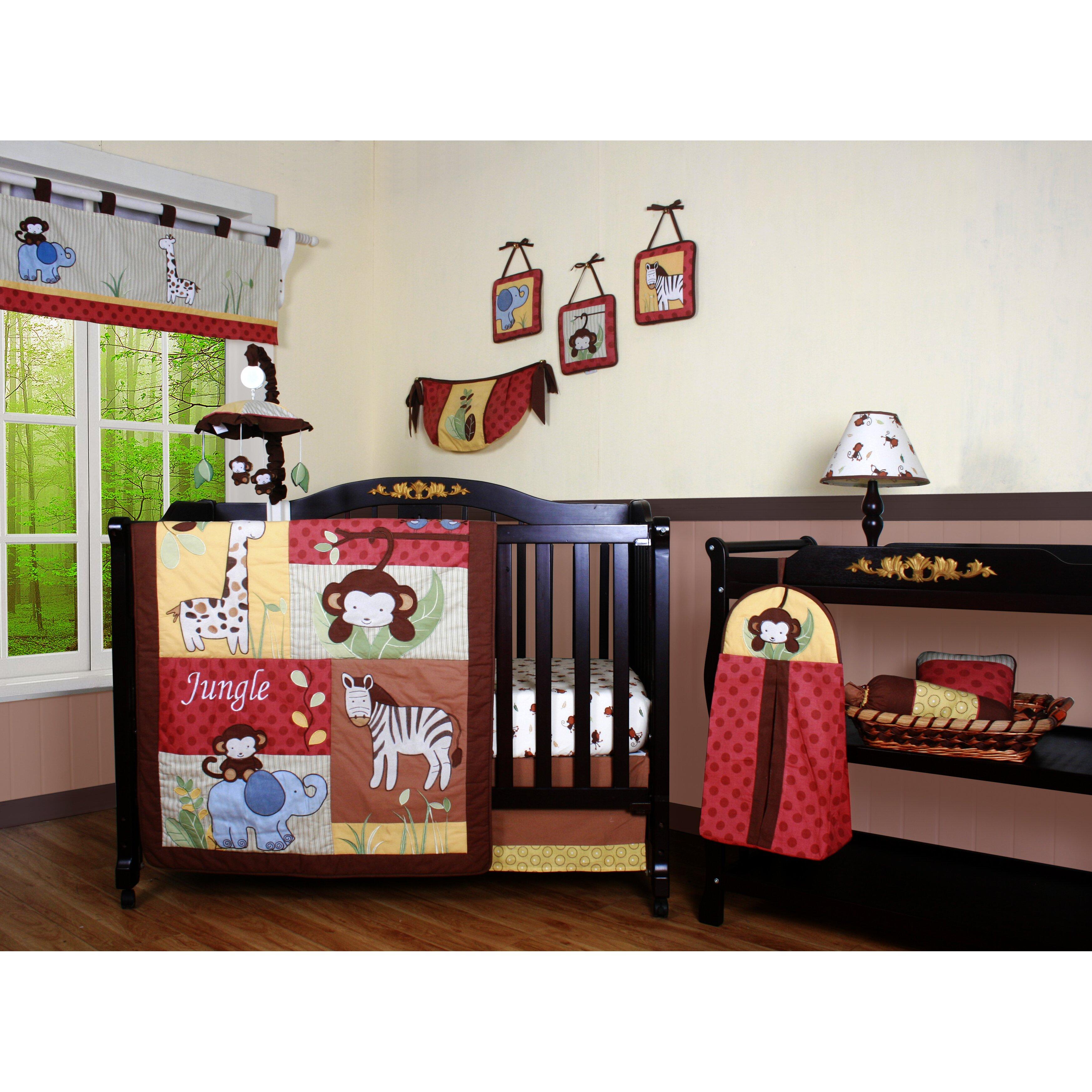 Geenny boutique amazon jungle animal 13 piece crib bedding set reviews wayfair - Geenny crib bedding sets ...
