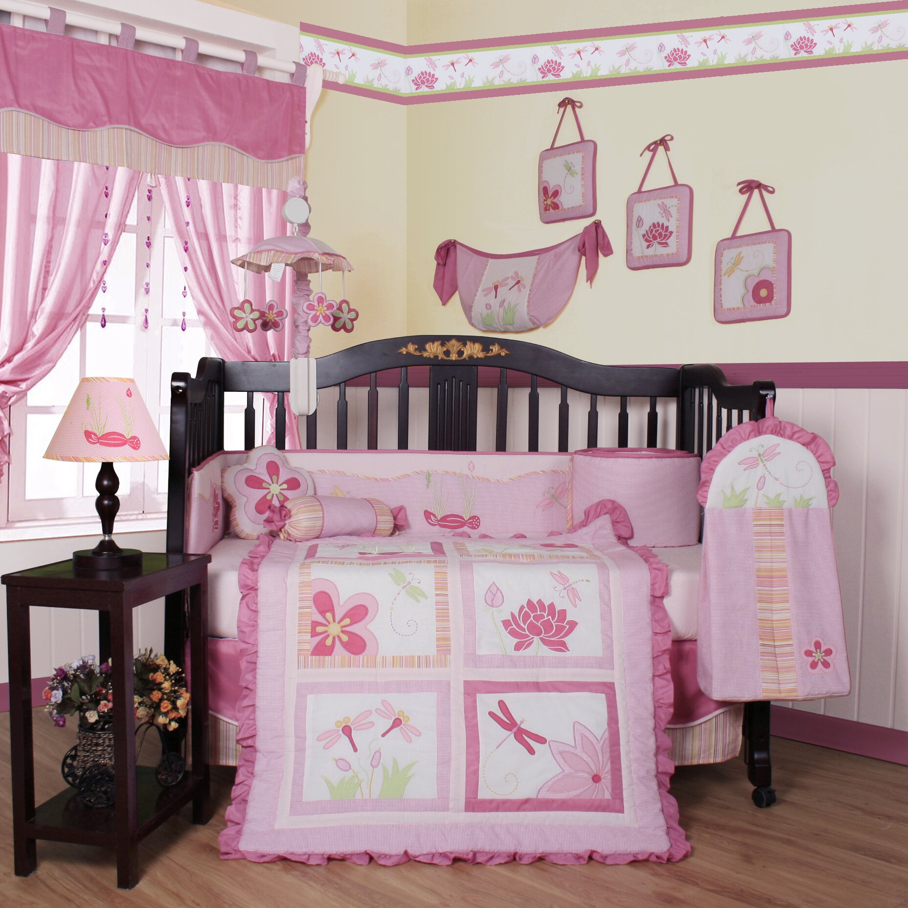 Geenny Boutique Dragonfly 13 Piece Crib Bedding Set