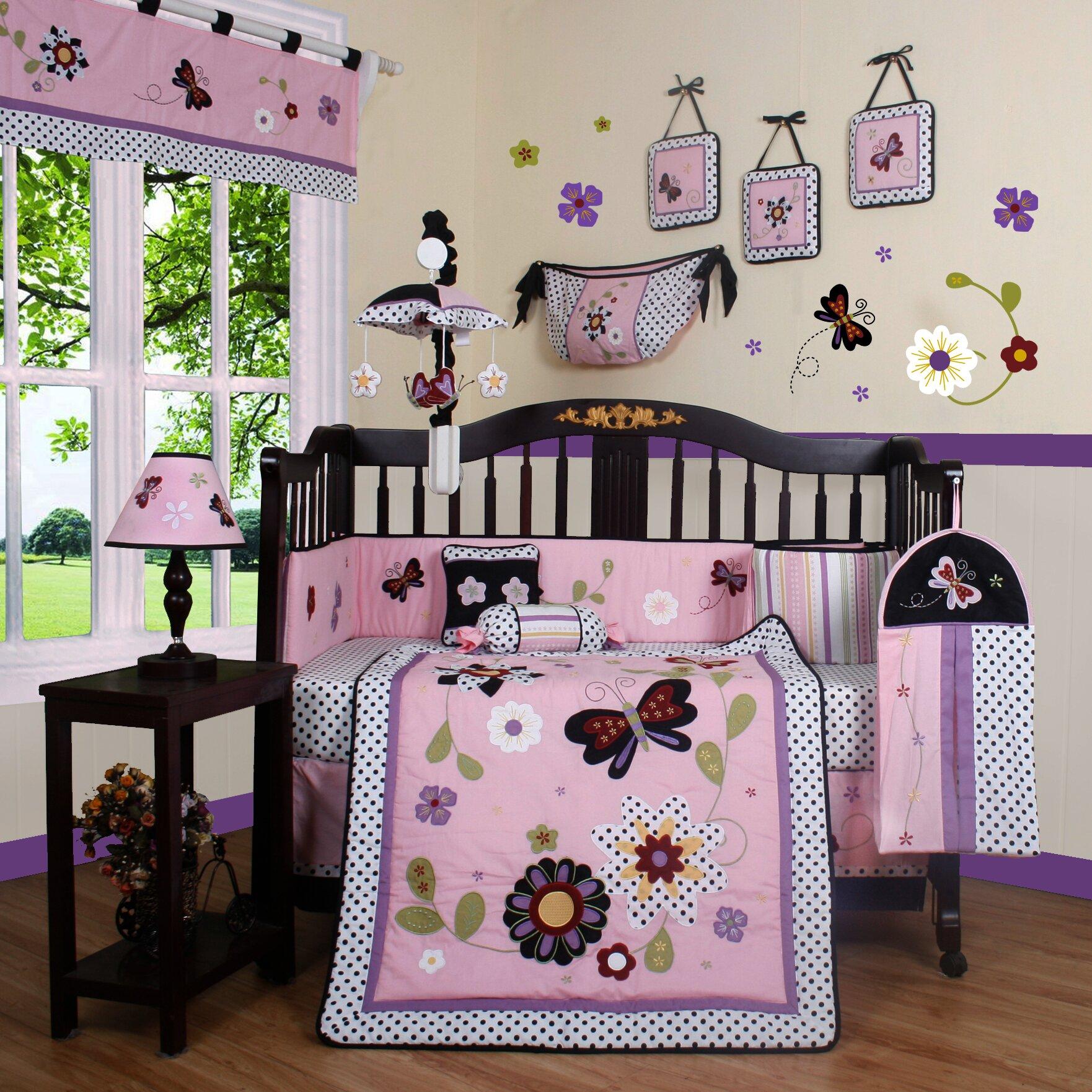 Geenny boutique daisy garden 13 piece crib bedding set reviews wayfair - Geenny crib bedding sets ...