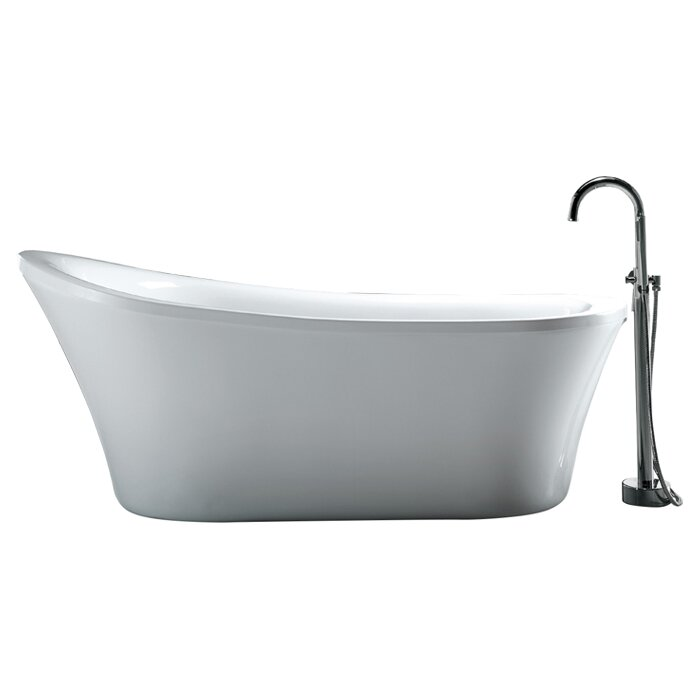 Ove decors rachel 70 x 34 freestanding acrylic slipper for Free standing tubs for sale