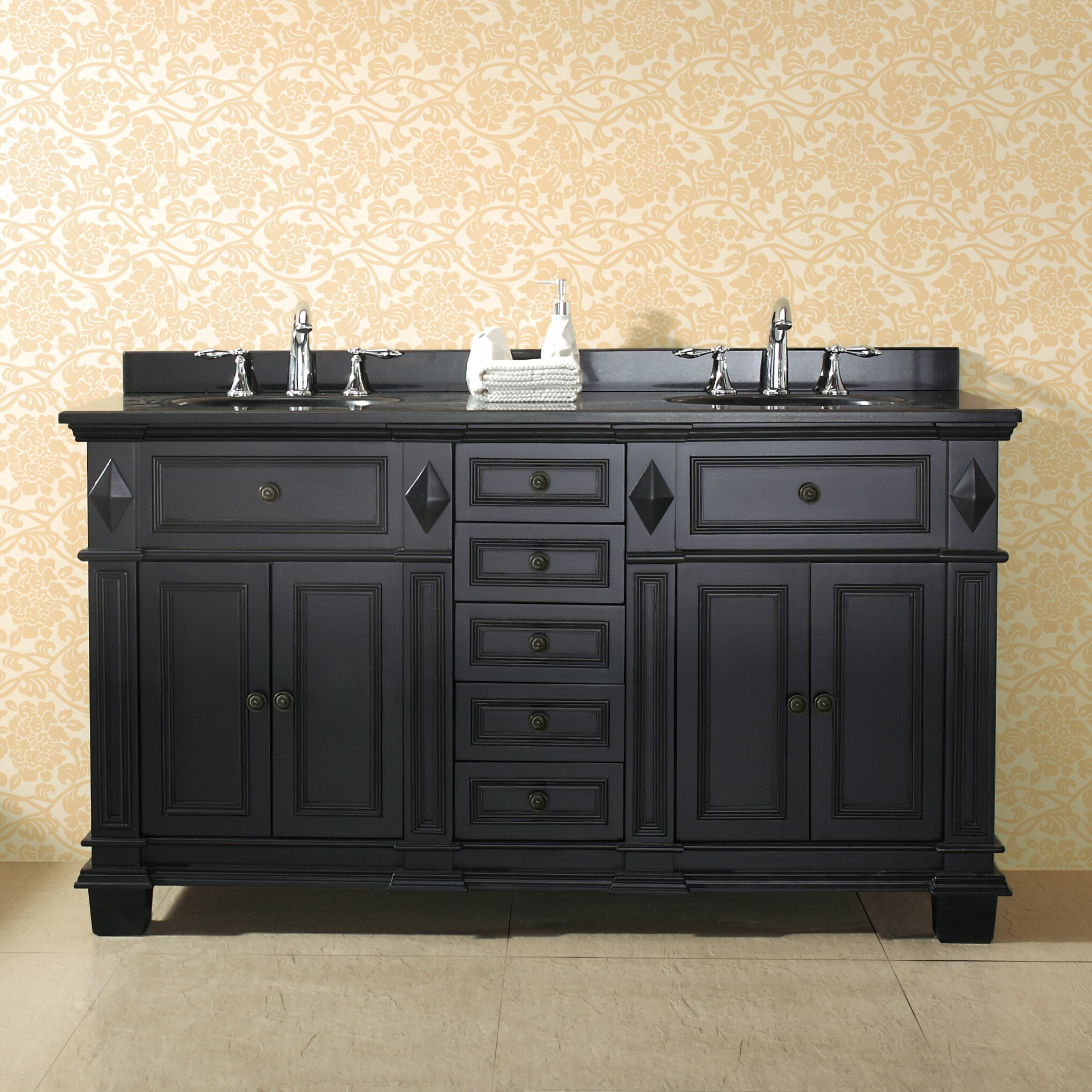 Ove decors essex 60 double bathroom vanity set reviews for Decor vanity