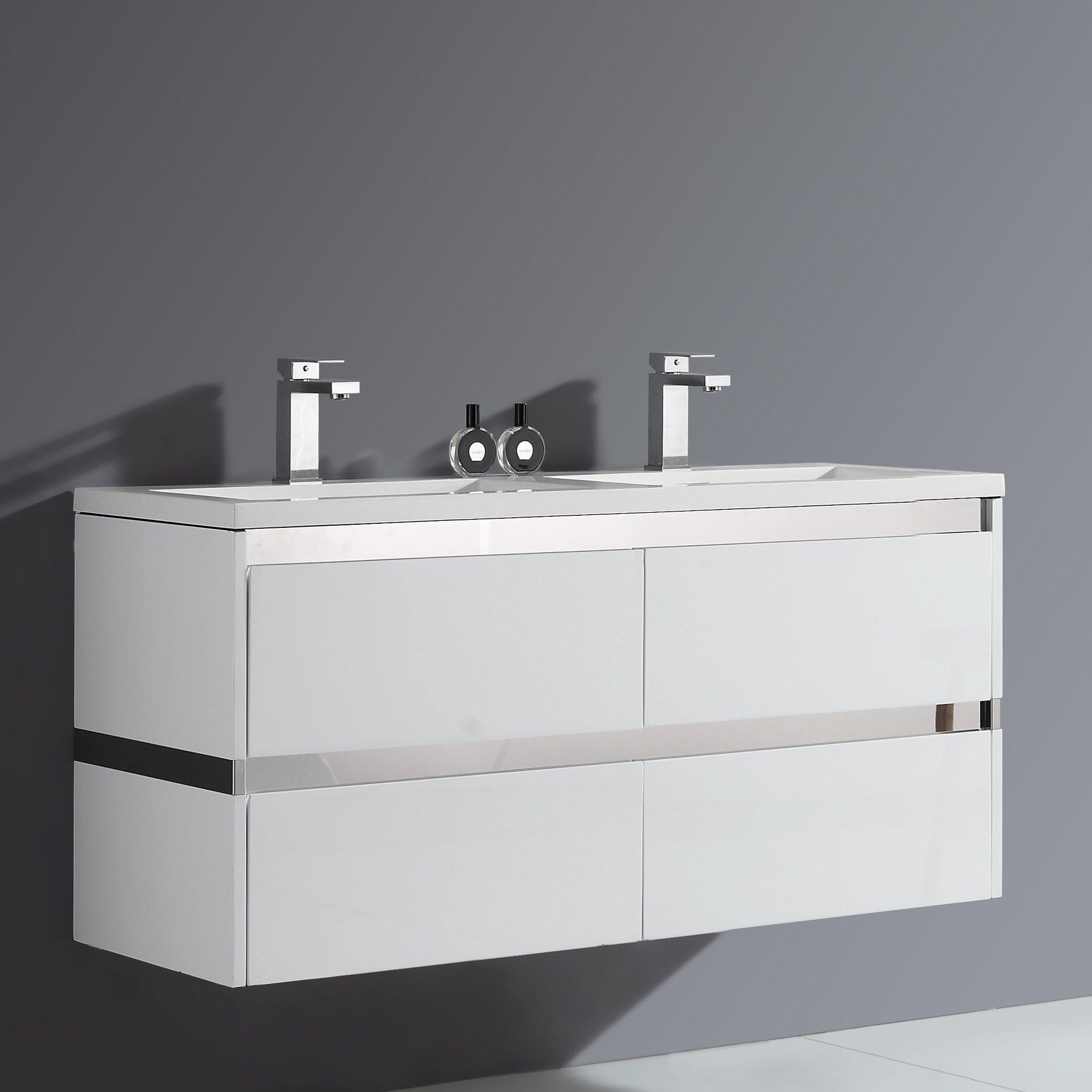 ove decors durante 48 quot  double bathroom vanity set wayfair 48 Inch Double Sink Bathroom Vanities 48 Inch Double Sink Bathroom Vanity