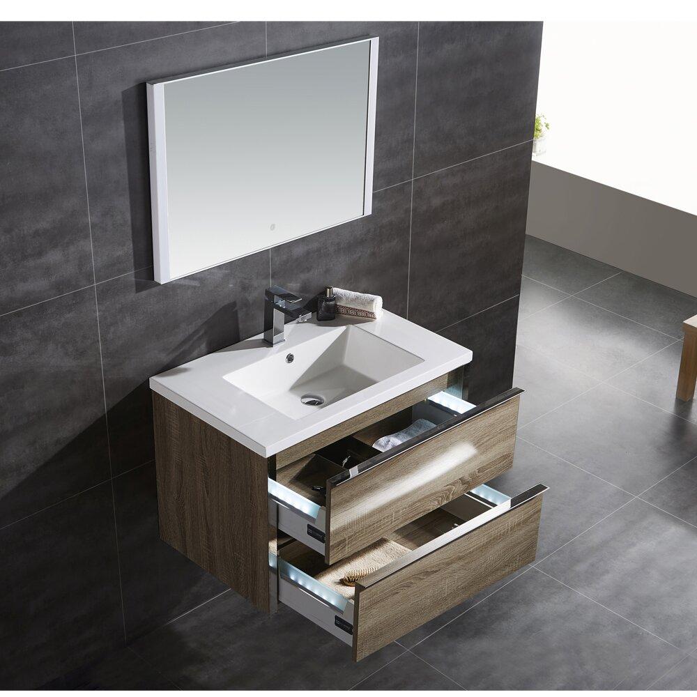 Ove Decors Theo 32 Single Bathroom Vanity With Mirror Wayfair