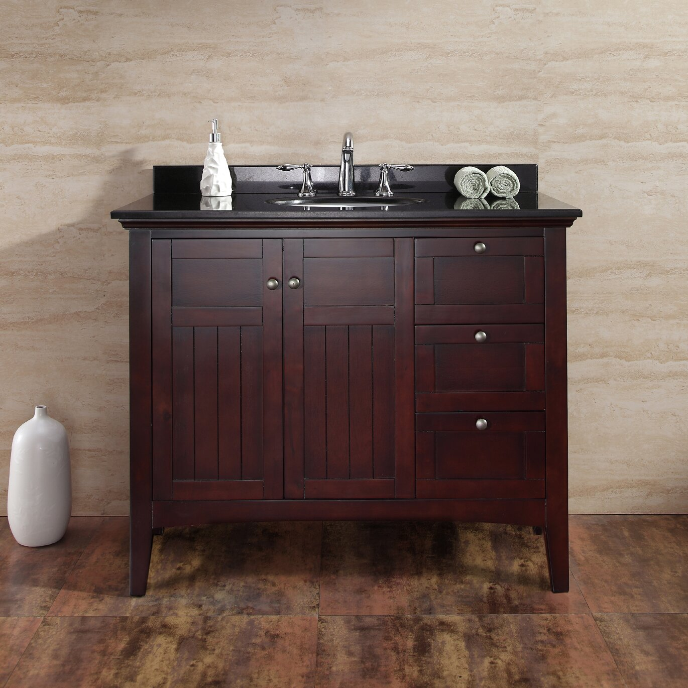 "Ove Decors Gavin 42"" Single Bathroom Vanity Set & Reviews ..."