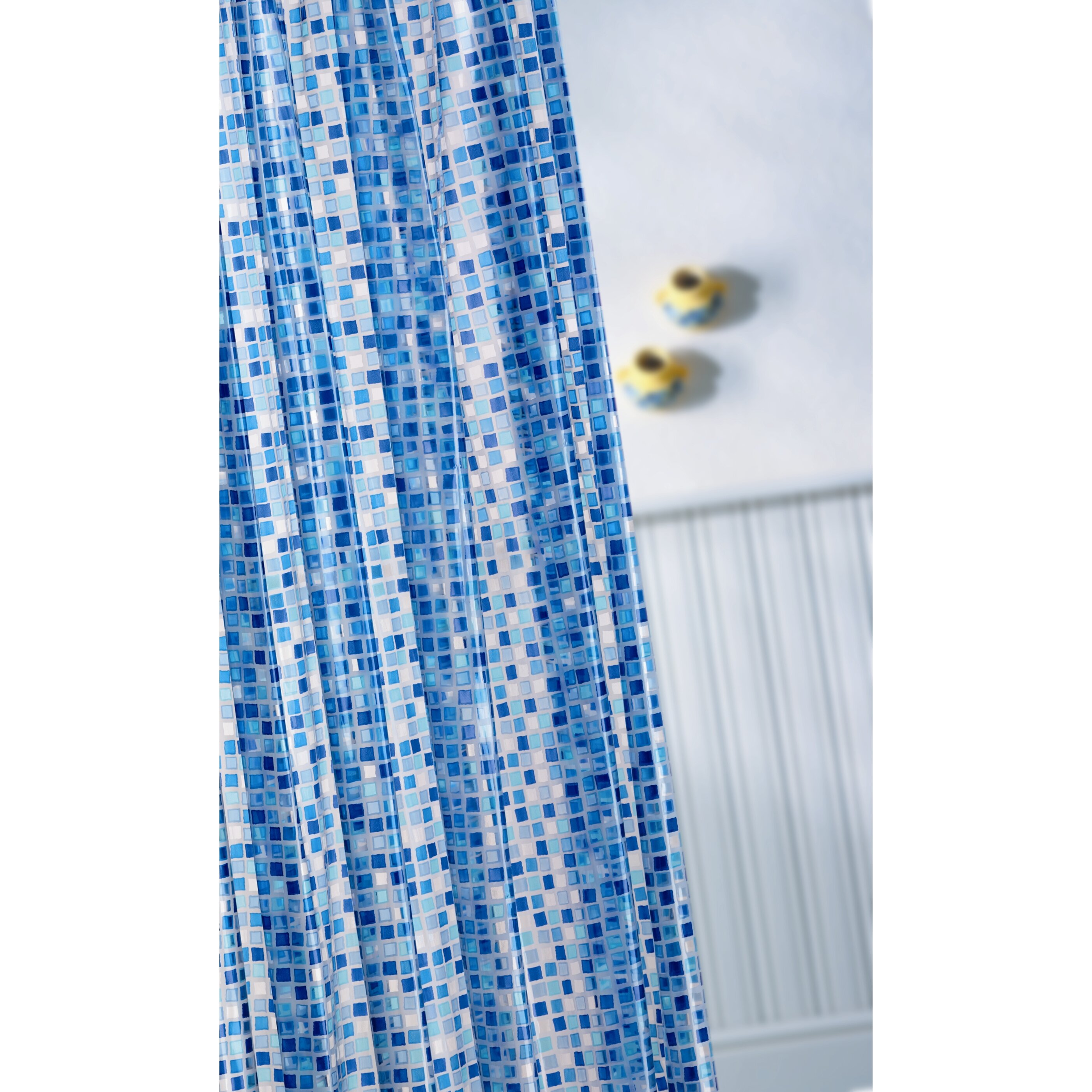 croydex mosaic vinyl shower curtain reviews wayfair