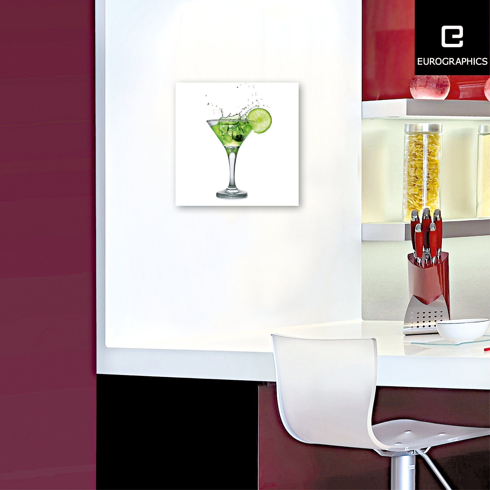 eurographics lime cocktail by eg design team glass art wayfair uk. Black Bedroom Furniture Sets. Home Design Ideas