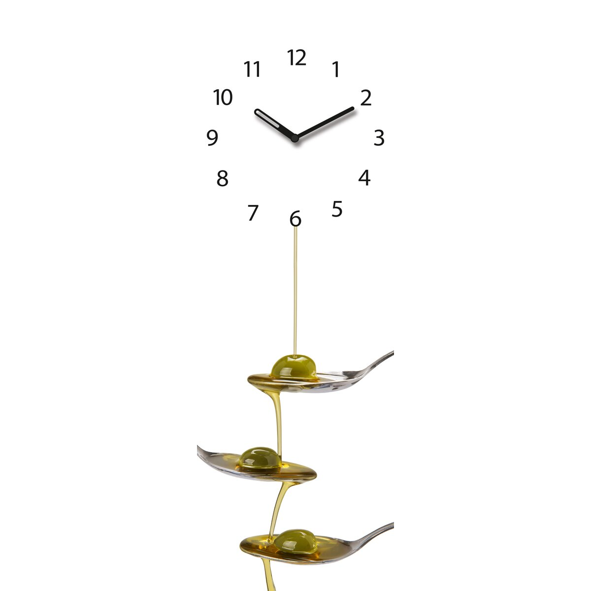 eurographics time art olive oil on spoons wall clock wayfair uk. Black Bedroom Furniture Sets. Home Design Ideas