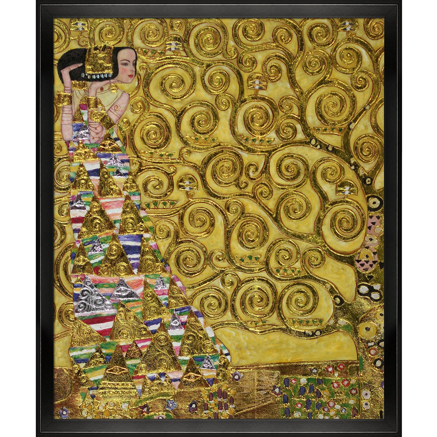 Tori home expectation by gustav klimt framed original for Gustav klimt original paintings for sale