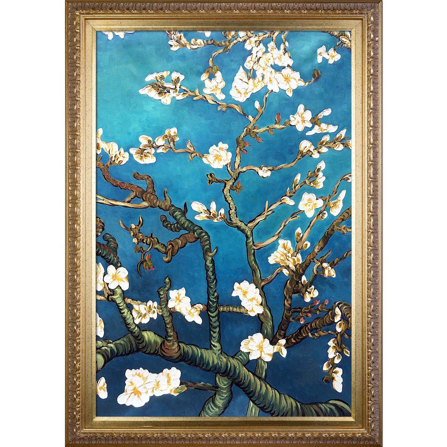 Tori Home Almond Blossoms By Vincent Van Gogh Framed