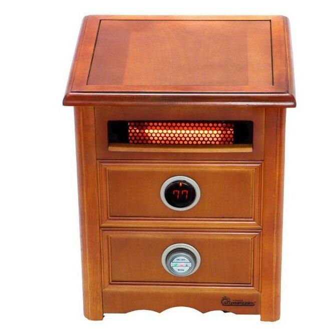 Infrared Heater Nightstand Model 1,500 Watt Portable Electric Infrared